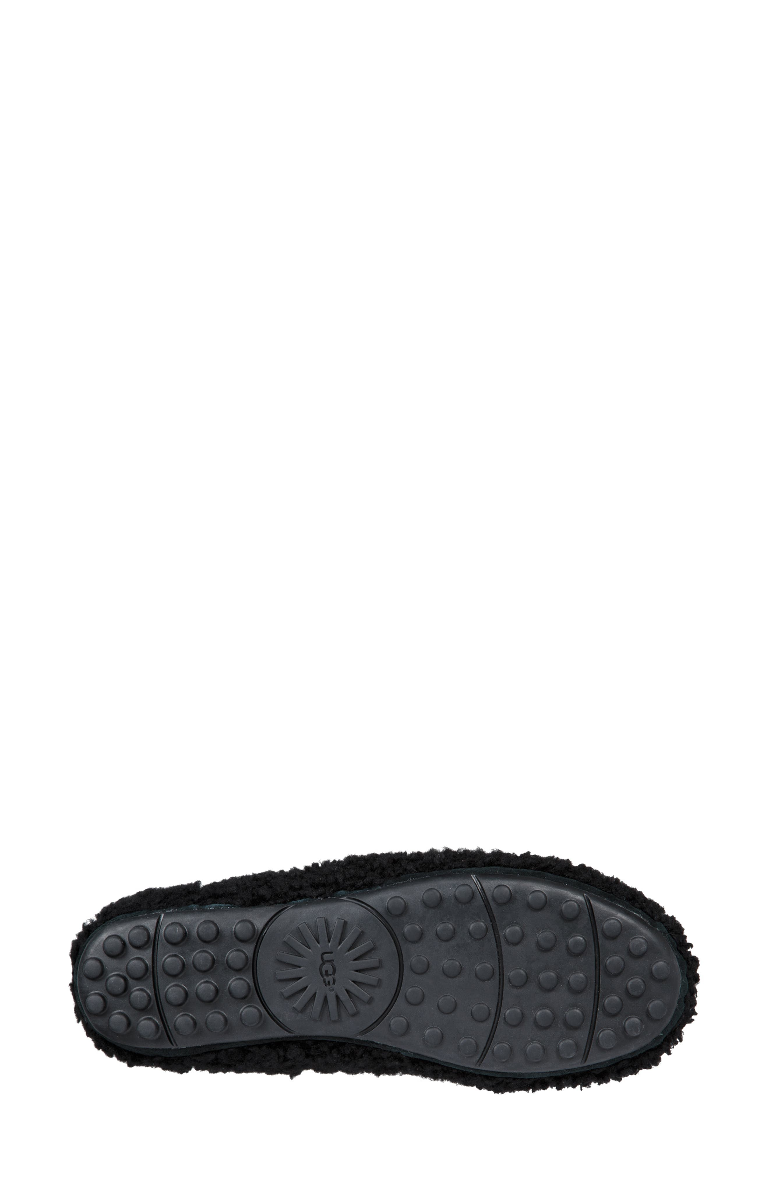 Hailey Fluff Genuine Shearling Slipper,                             Alternate thumbnail 5, color,                             BLACK