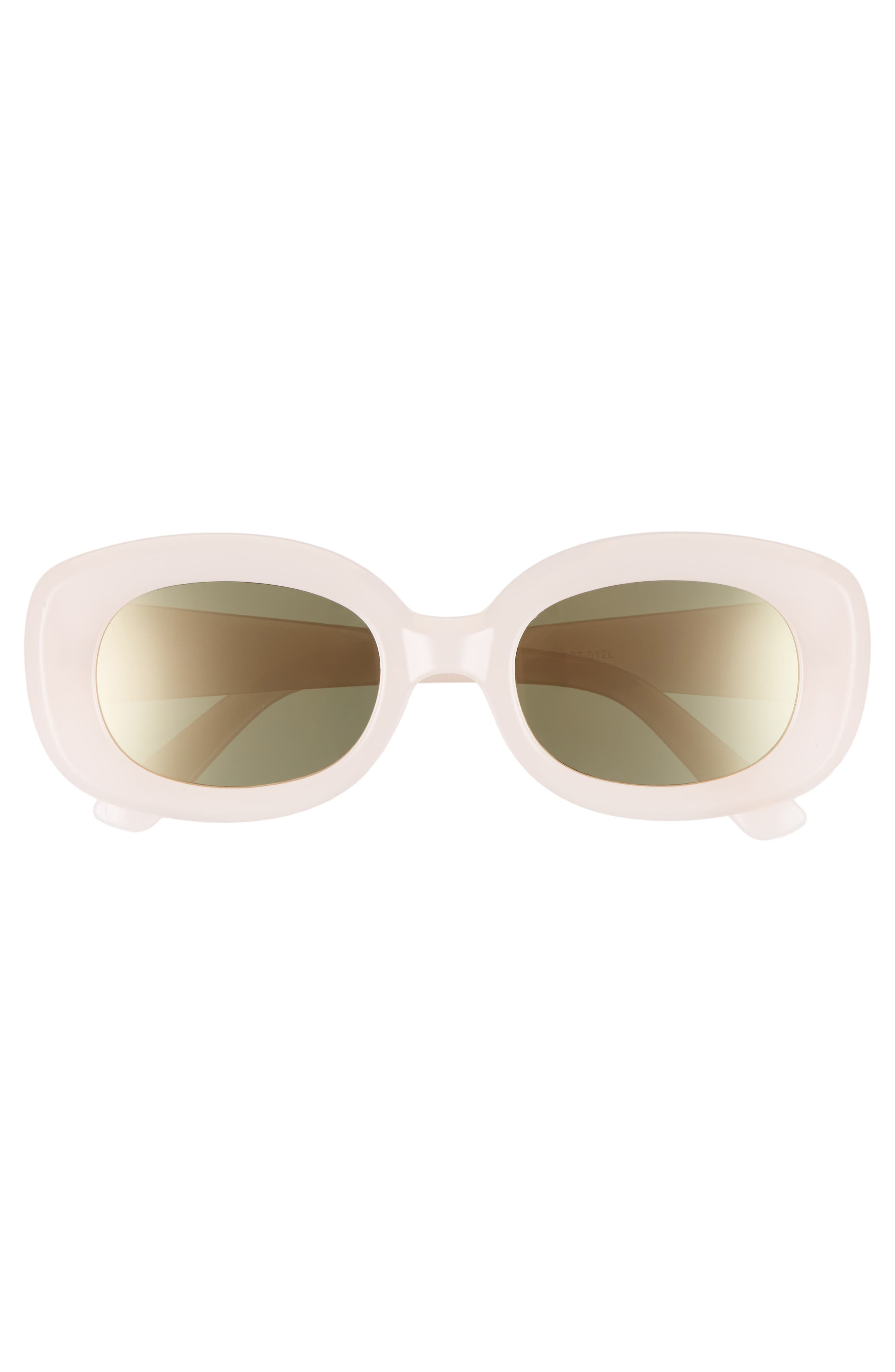 48mm Small Square Sunglasses,                             Alternate thumbnail 3, color,                             PINK