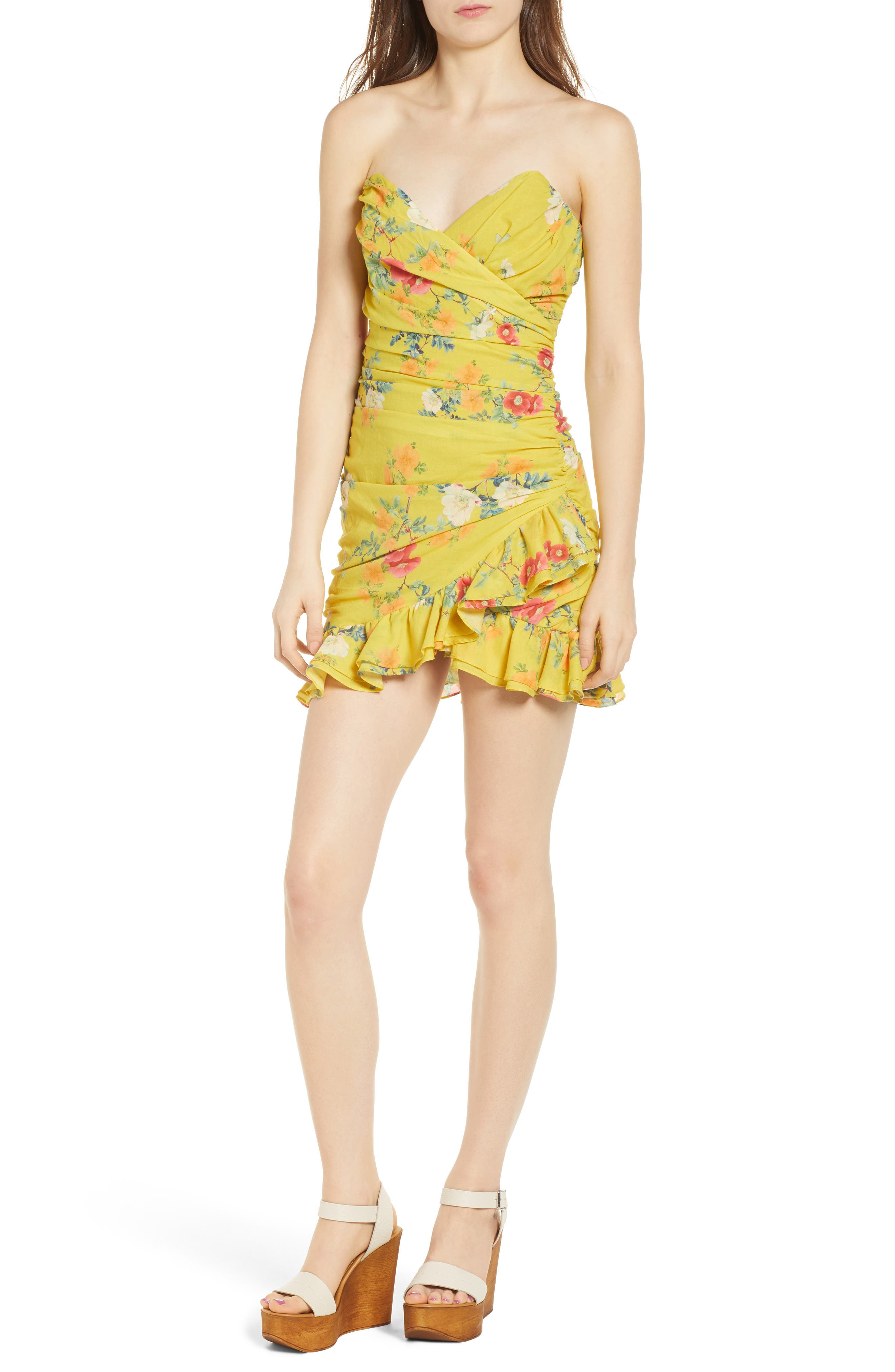 Casey Strapless Minidress,                             Main thumbnail 1, color,