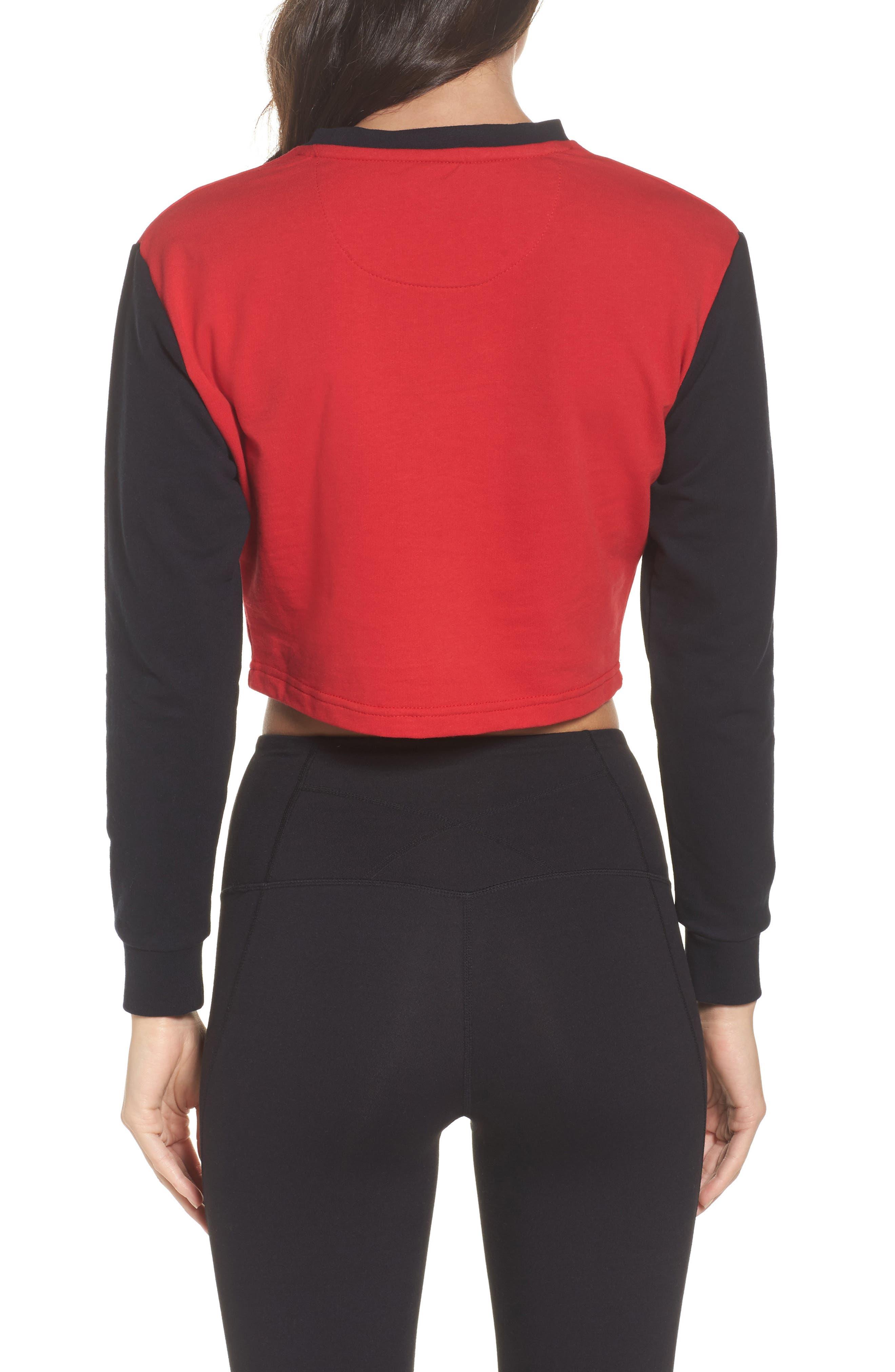Authentic Crop Sweatshirt,                             Alternate thumbnail 2, color,                             001