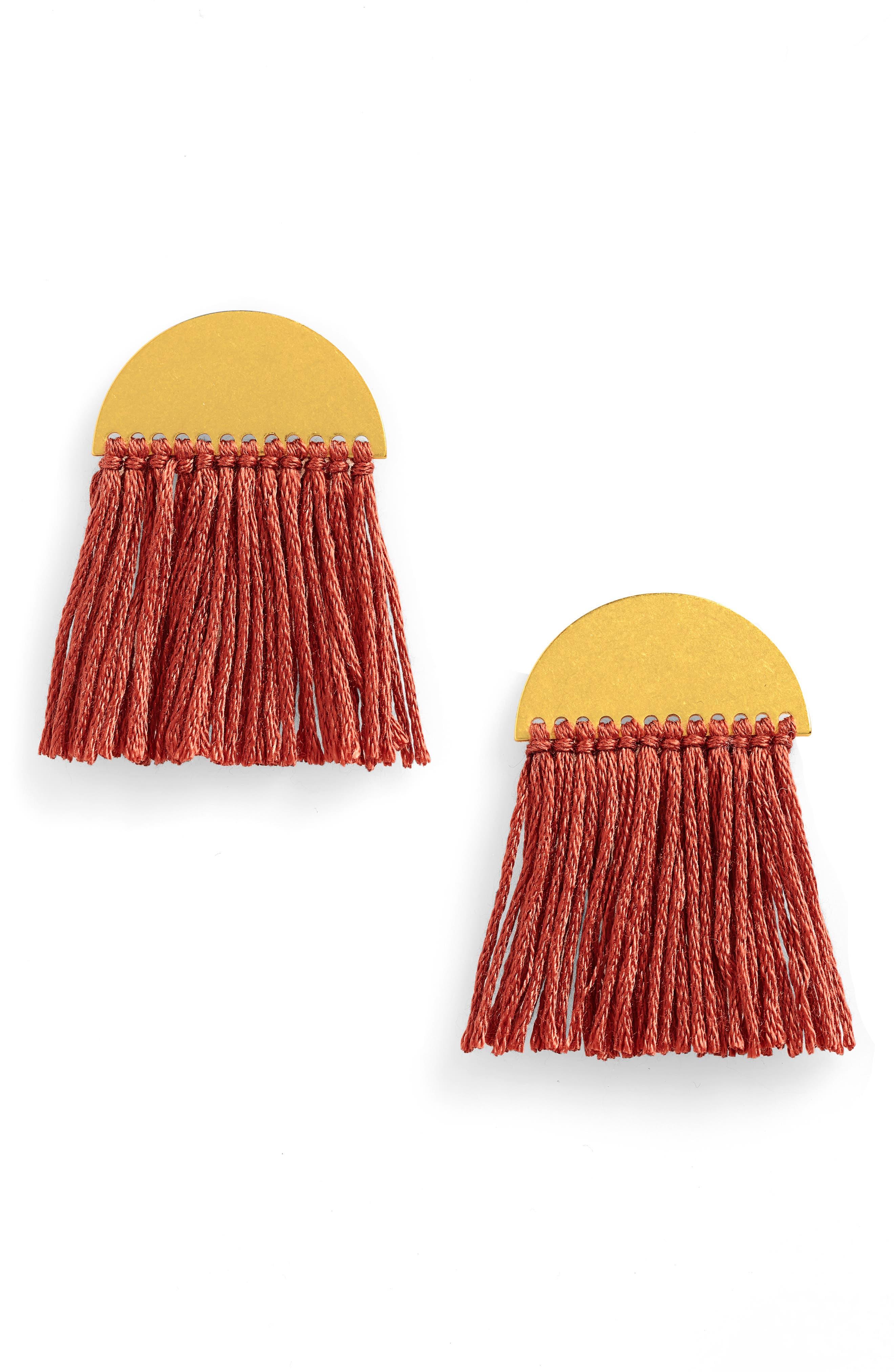 Halfmoon Fringe Earrings,                             Main thumbnail 1, color,                             712