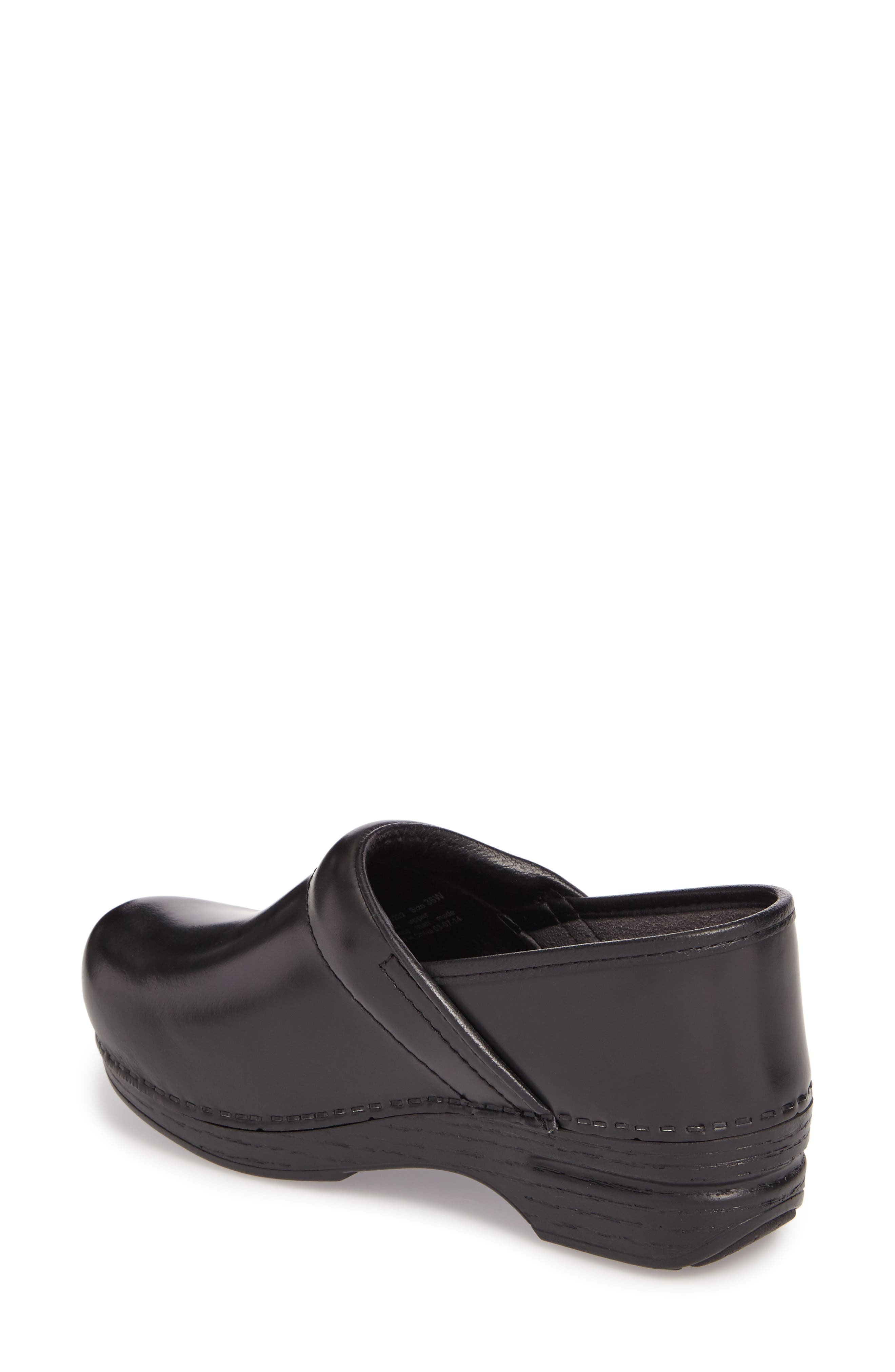 Wide Pro XP Clog,                             Alternate thumbnail 2, color,                             BLACK CABRIO LEATHER