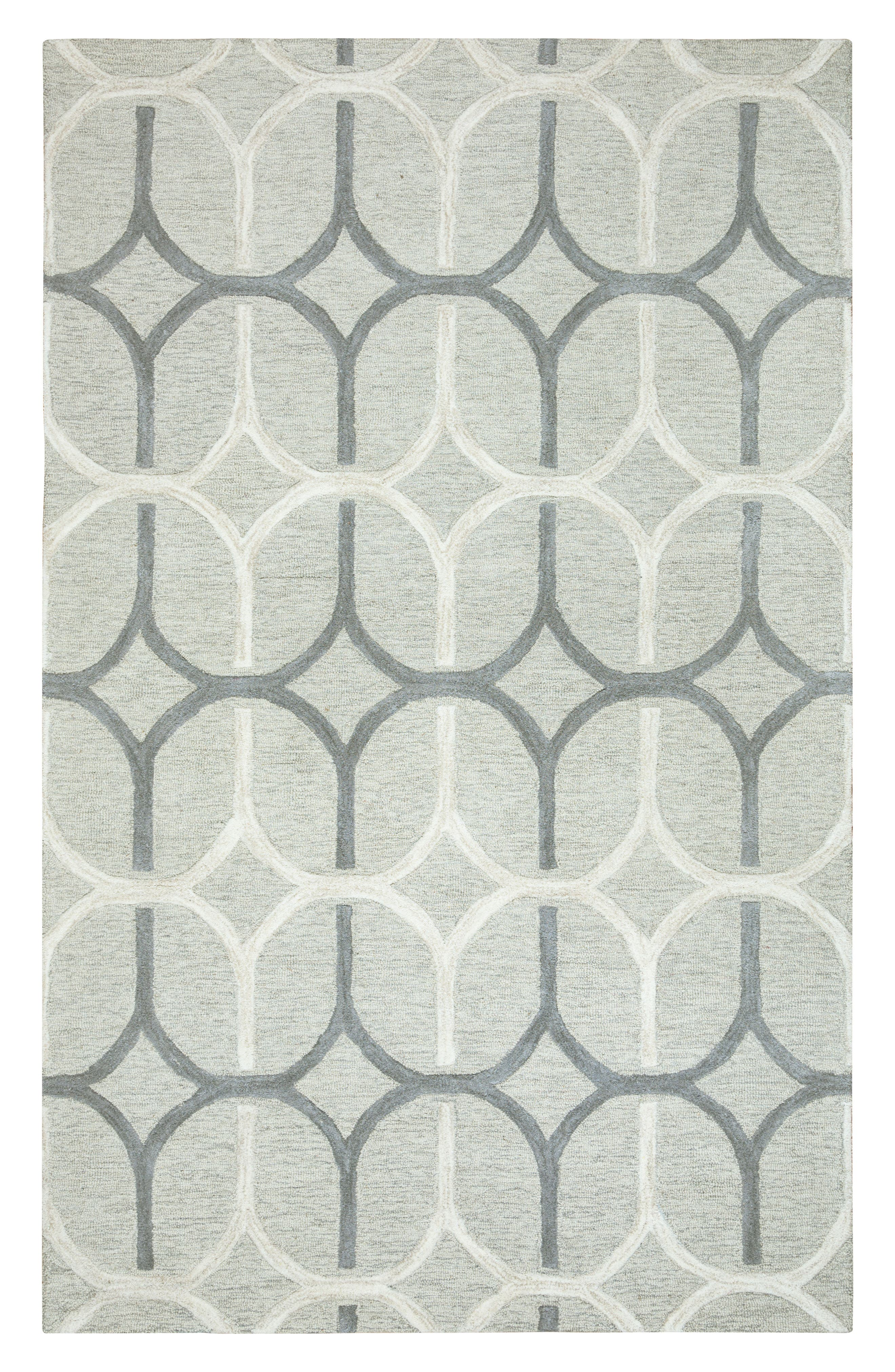 'Caterine Ovals' Hand Tufted Wool Area Rug,                             Main thumbnail 1, color,                             020