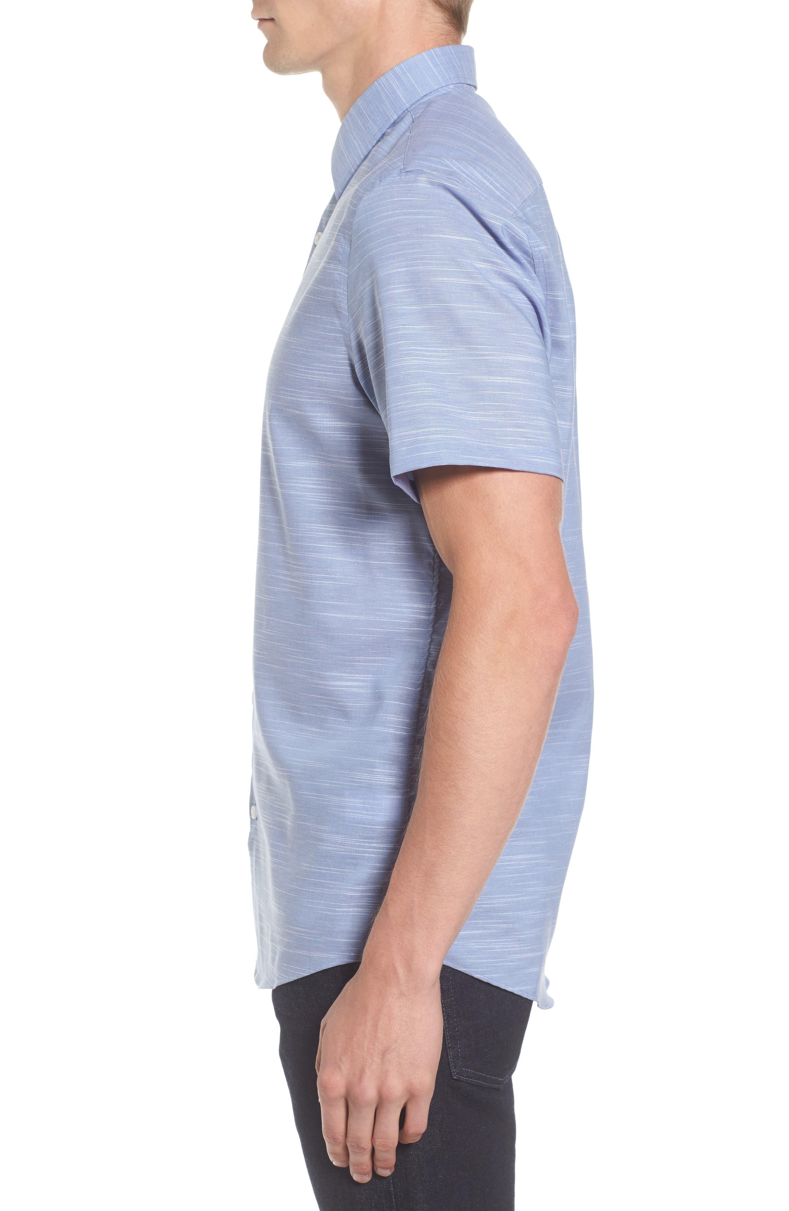 Calilbrate Slim Fit Slub Woven Shirt,                             Alternate thumbnail 8, color,