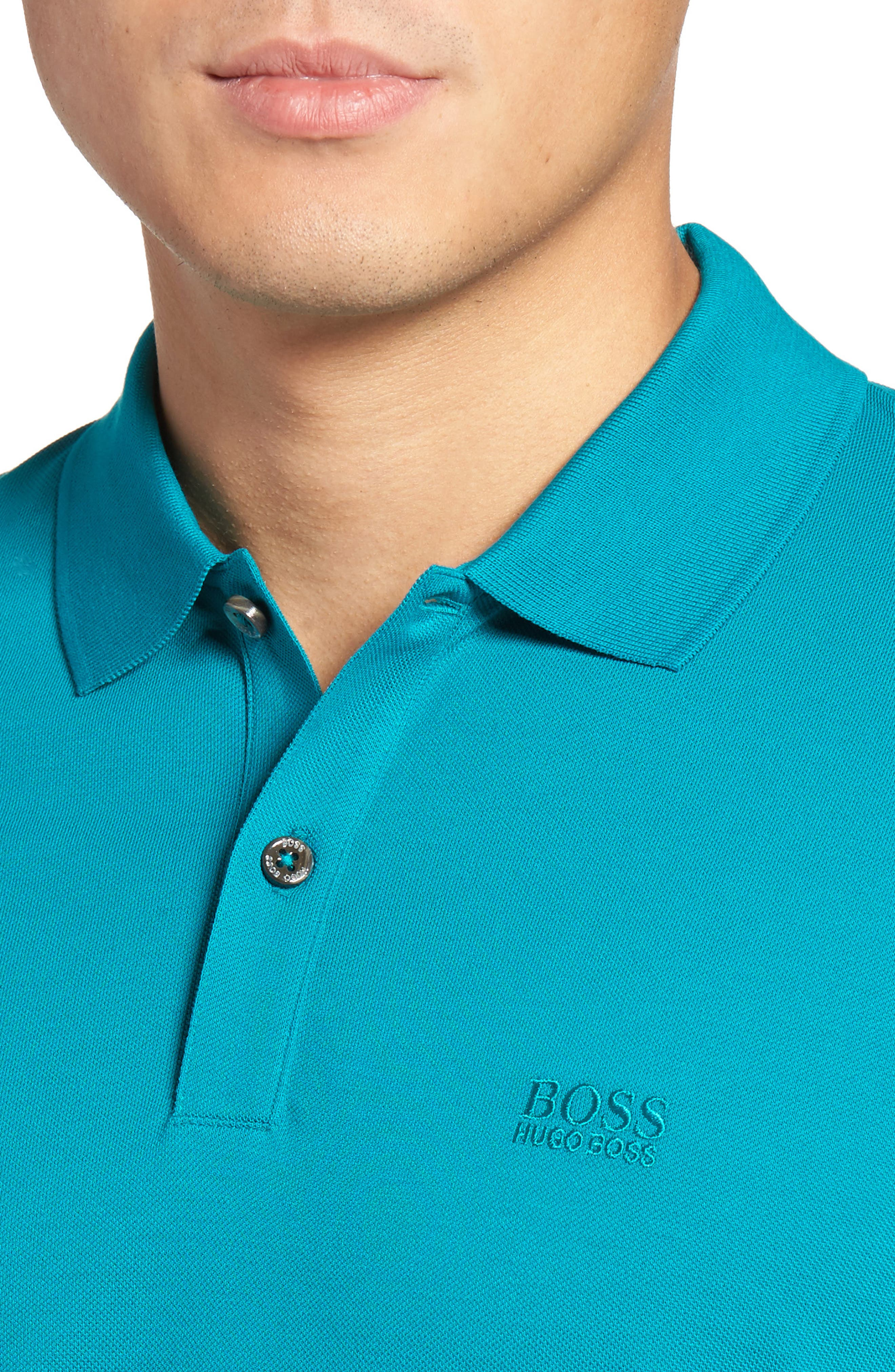 'Pallas' Regular Fit Logo Embroidered Polo Shirt,                             Alternate thumbnail 58, color,