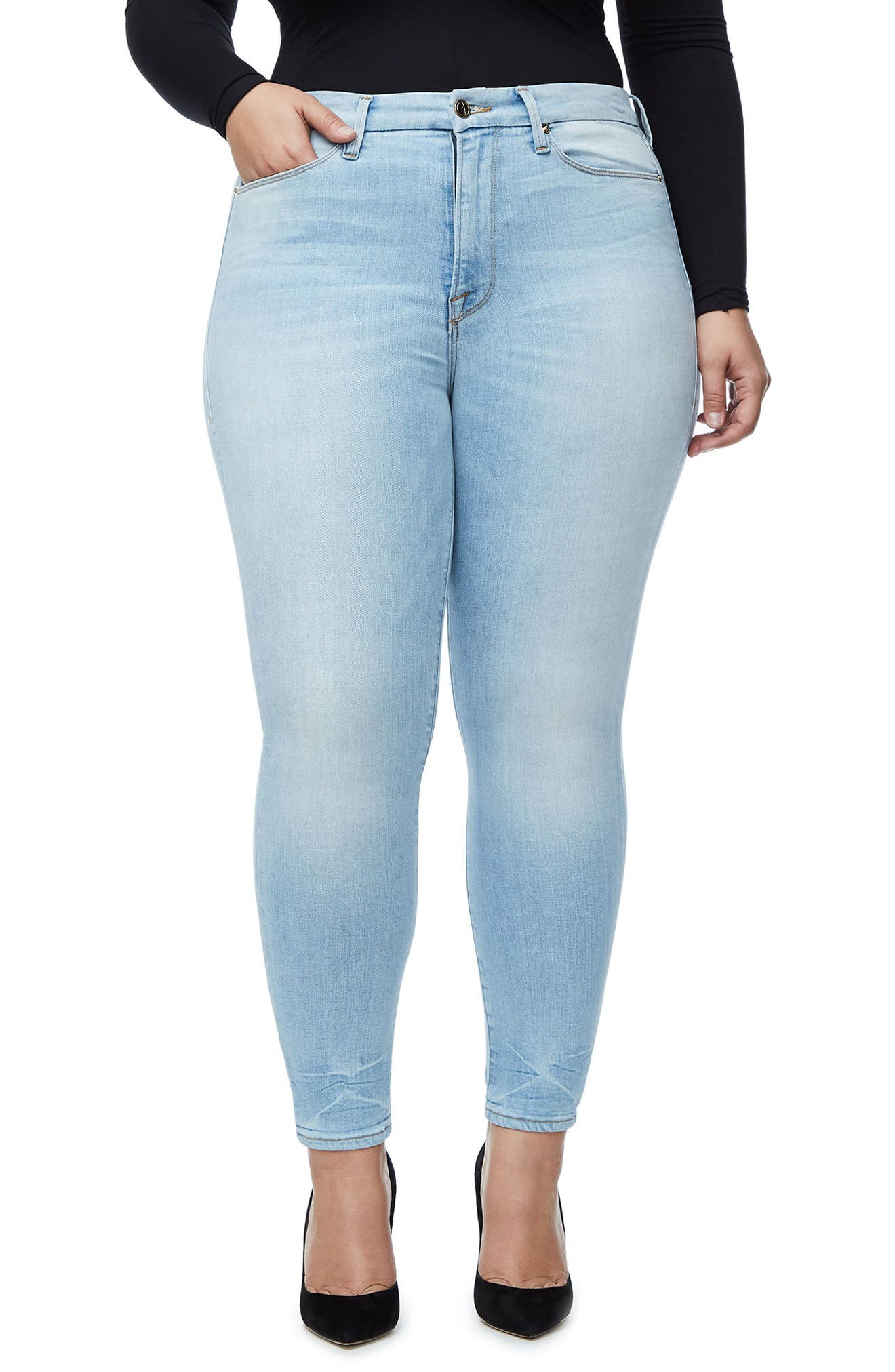 Good Legs High Waist Crop Skinny Jeans,                             Alternate thumbnail 8, color,