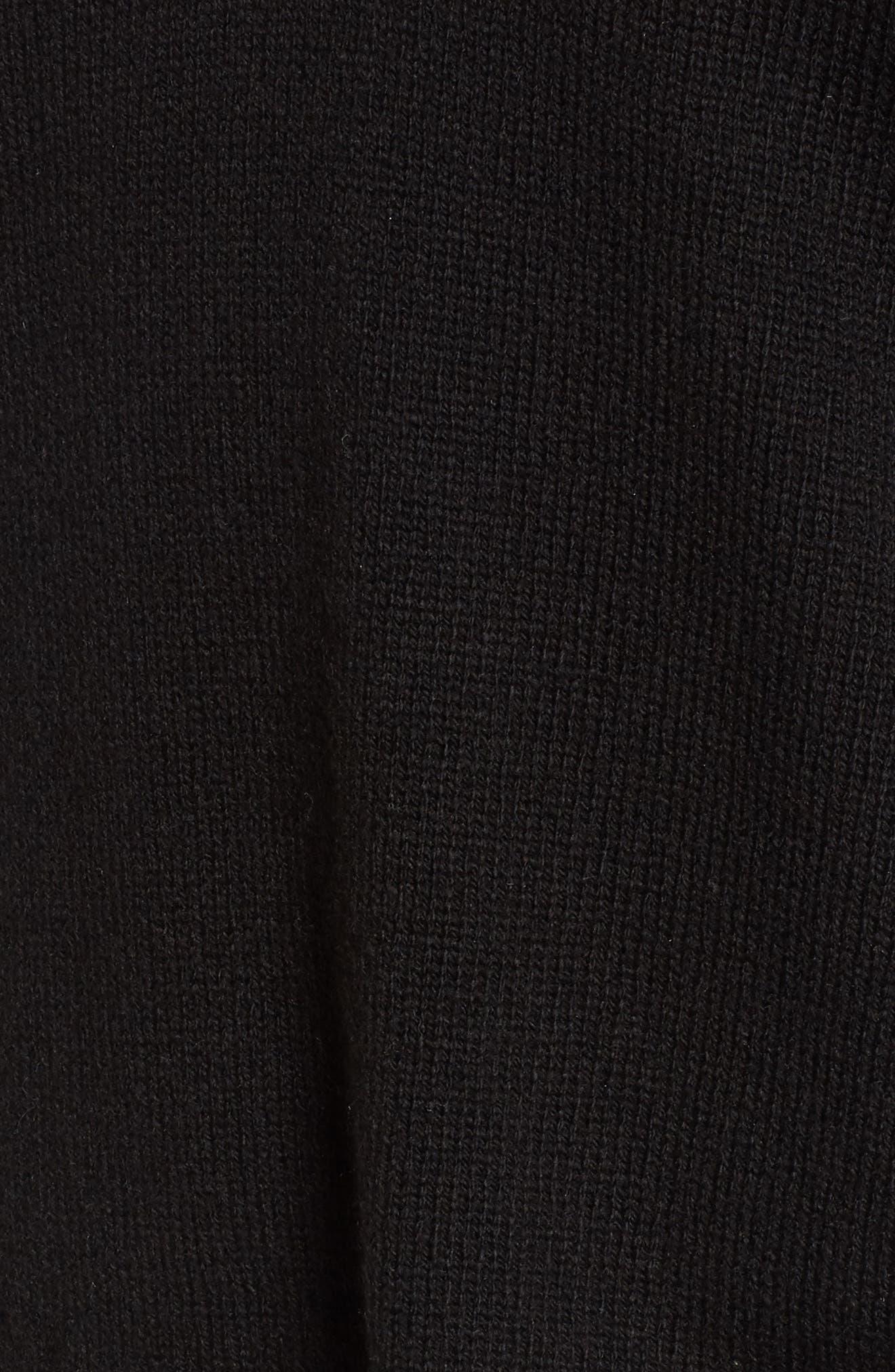 Cutout Neck Pullover,                             Alternate thumbnail 5, color,                             001