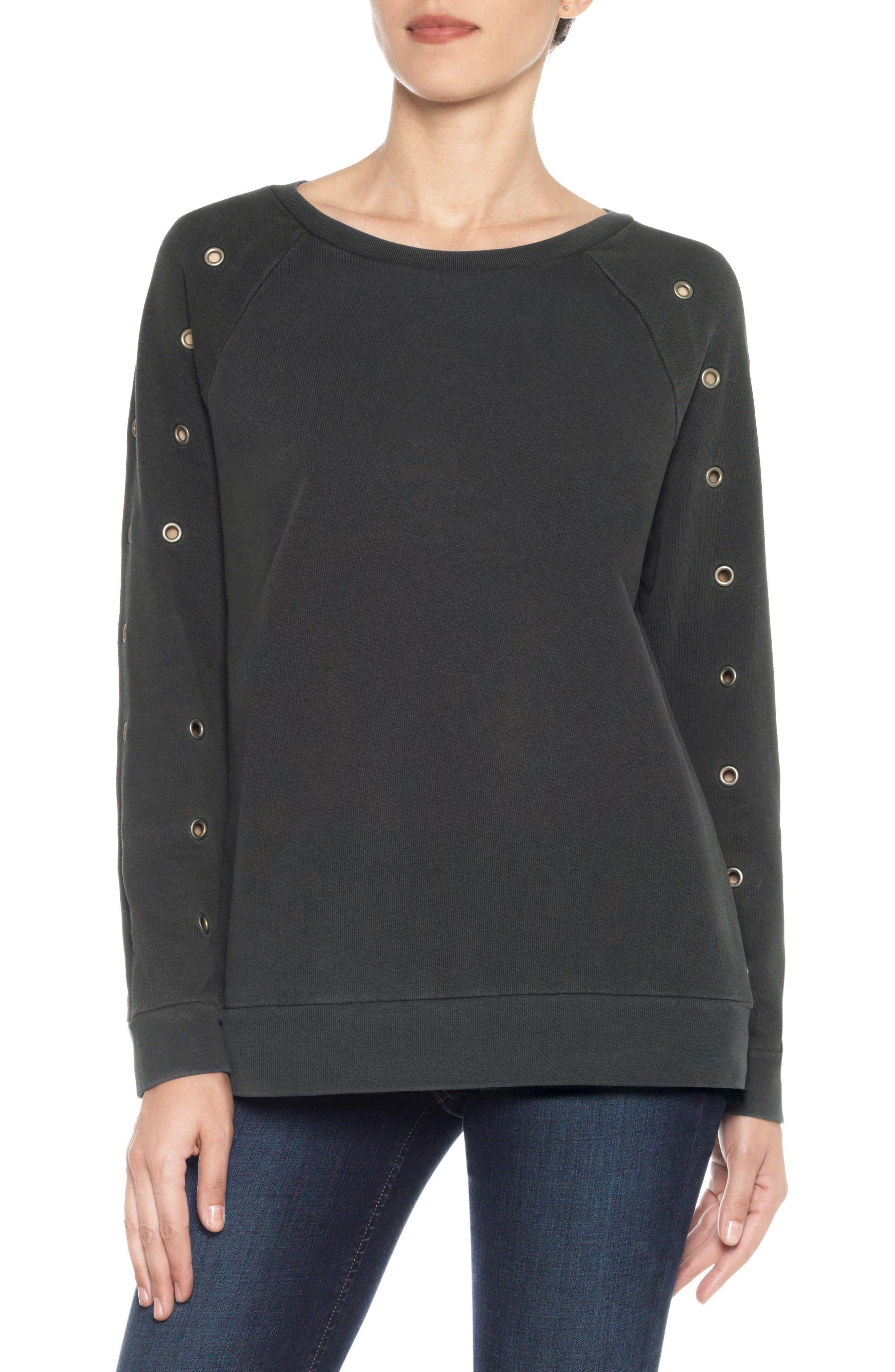 Izzy Grommet Sweatshirt,                         Main,                         color, 011