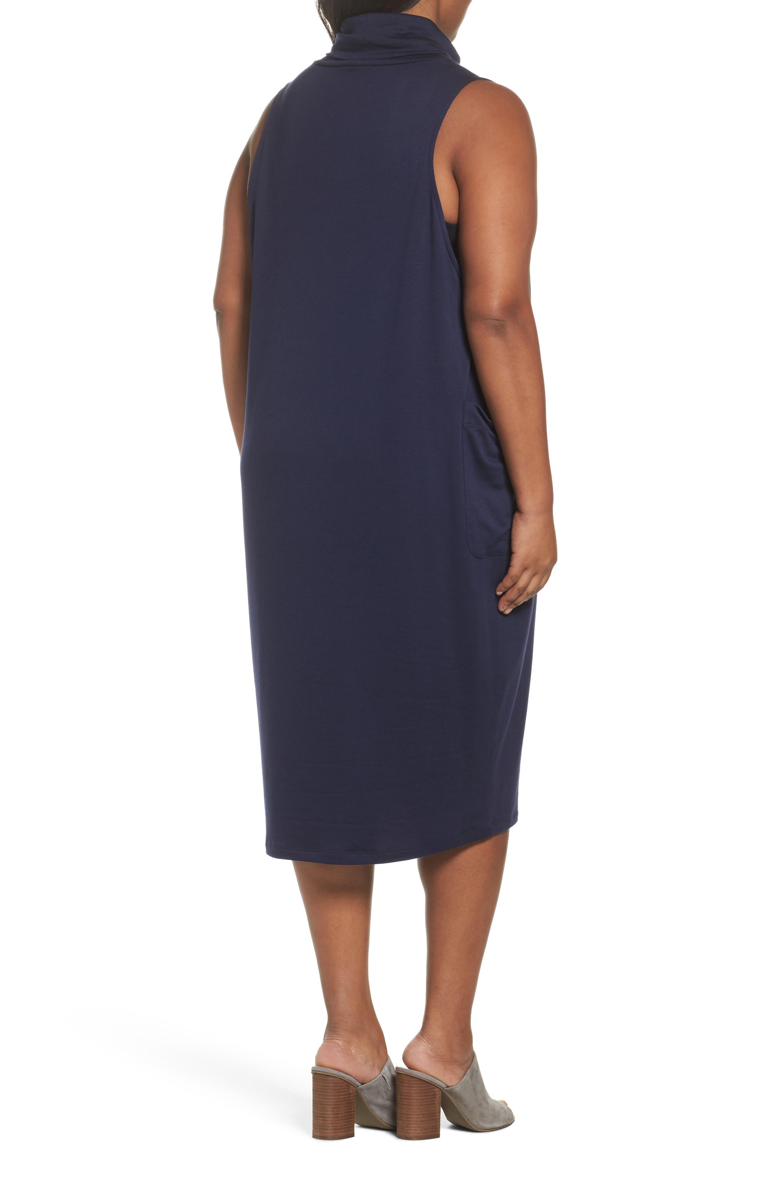 Stretch Tencel<sup>®</sup> Knit Jumper Dress,                             Alternate thumbnail 6, color,
