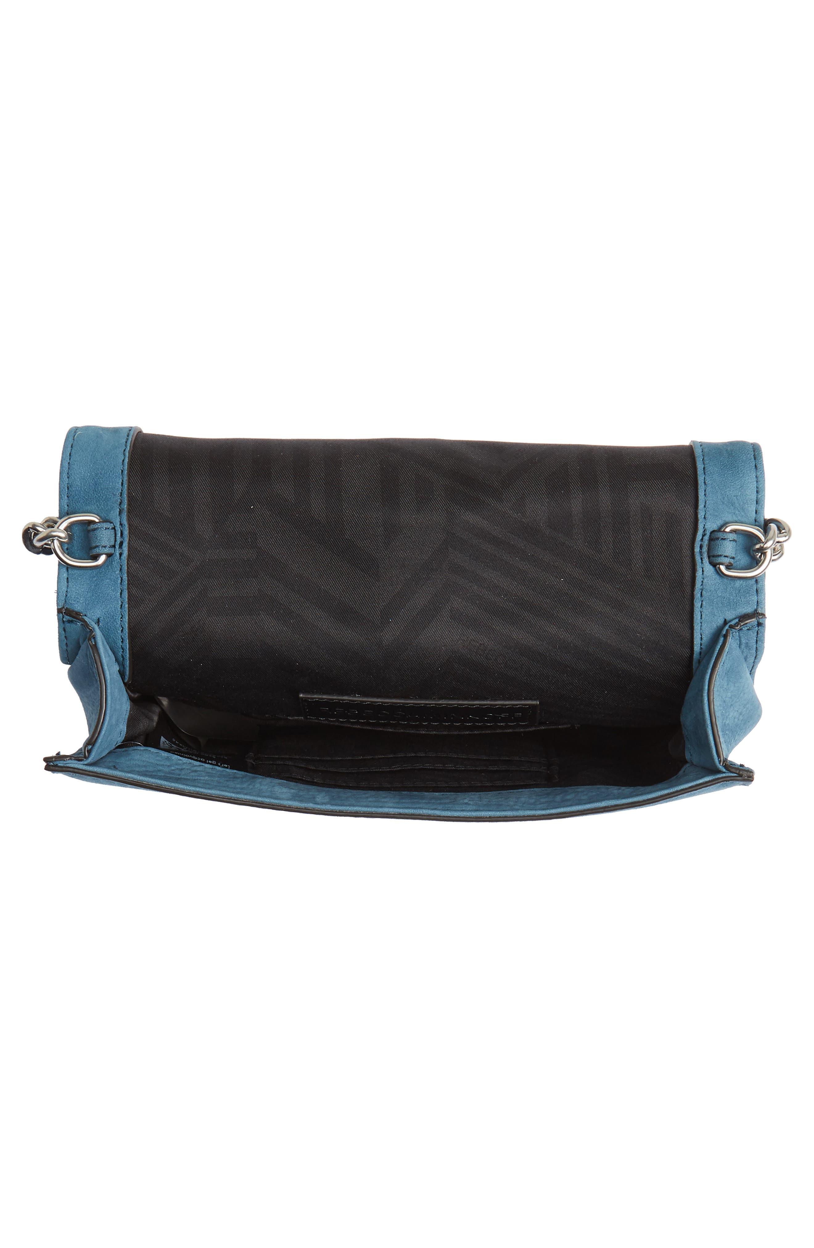 Small Love Nubuck Leather Crossbody Bag,                             Alternate thumbnail 18, color,