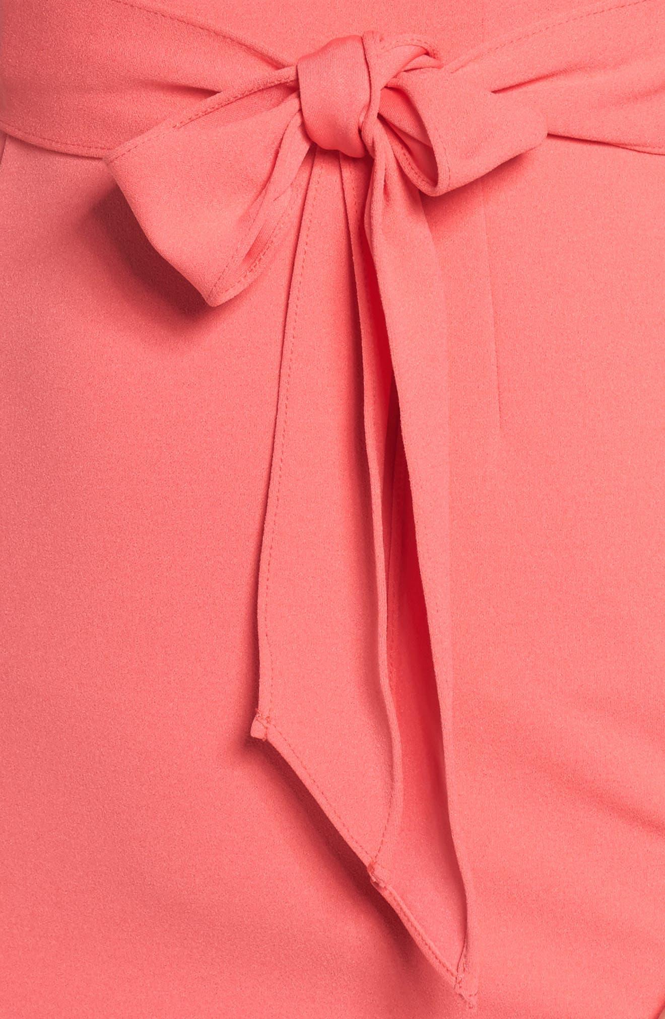Roll Neck Crepe Dress,                             Alternate thumbnail 4, color,                             650