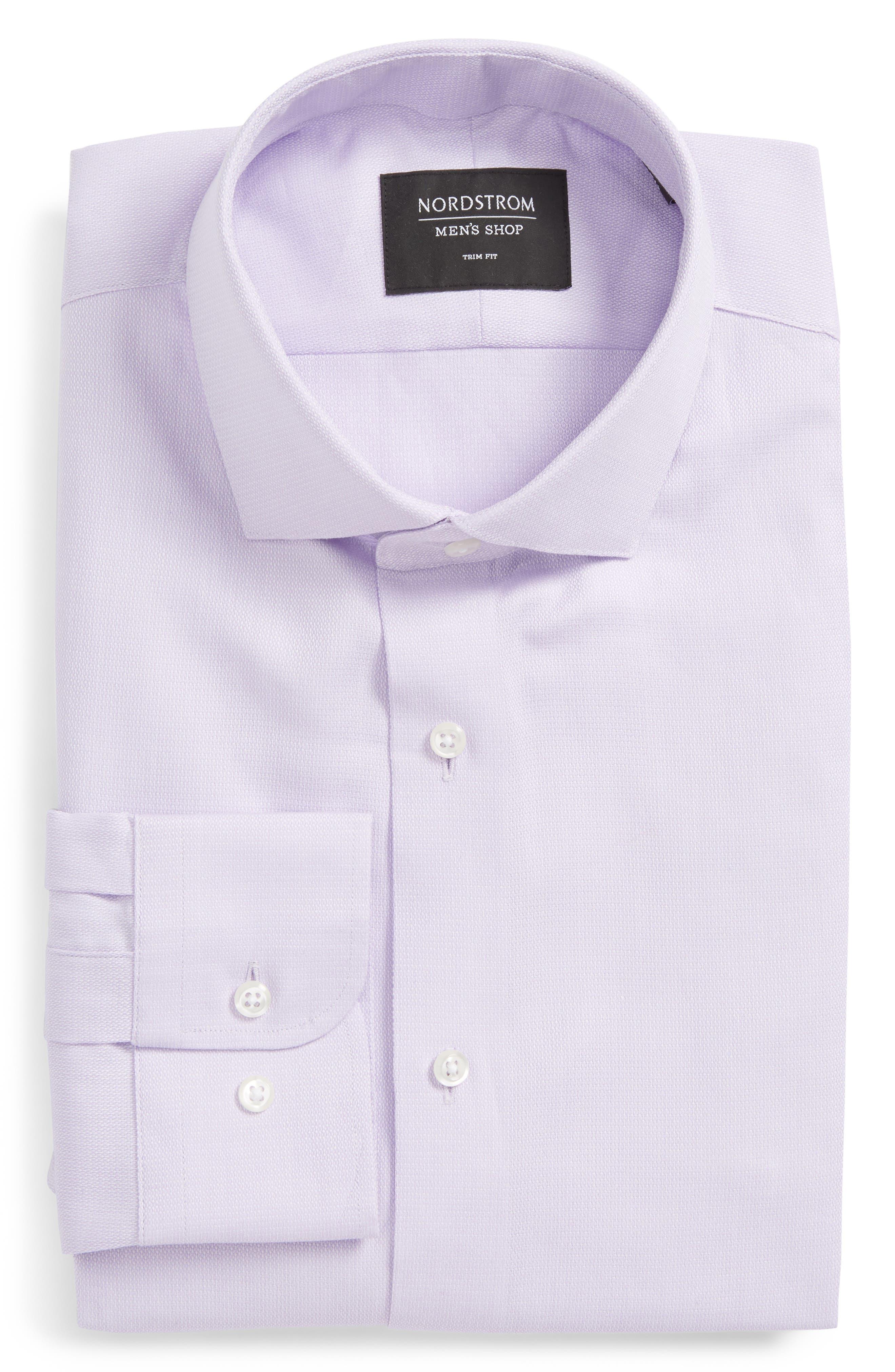 Trim Fit Solid Dress Shirt,                             Alternate thumbnail 19, color,