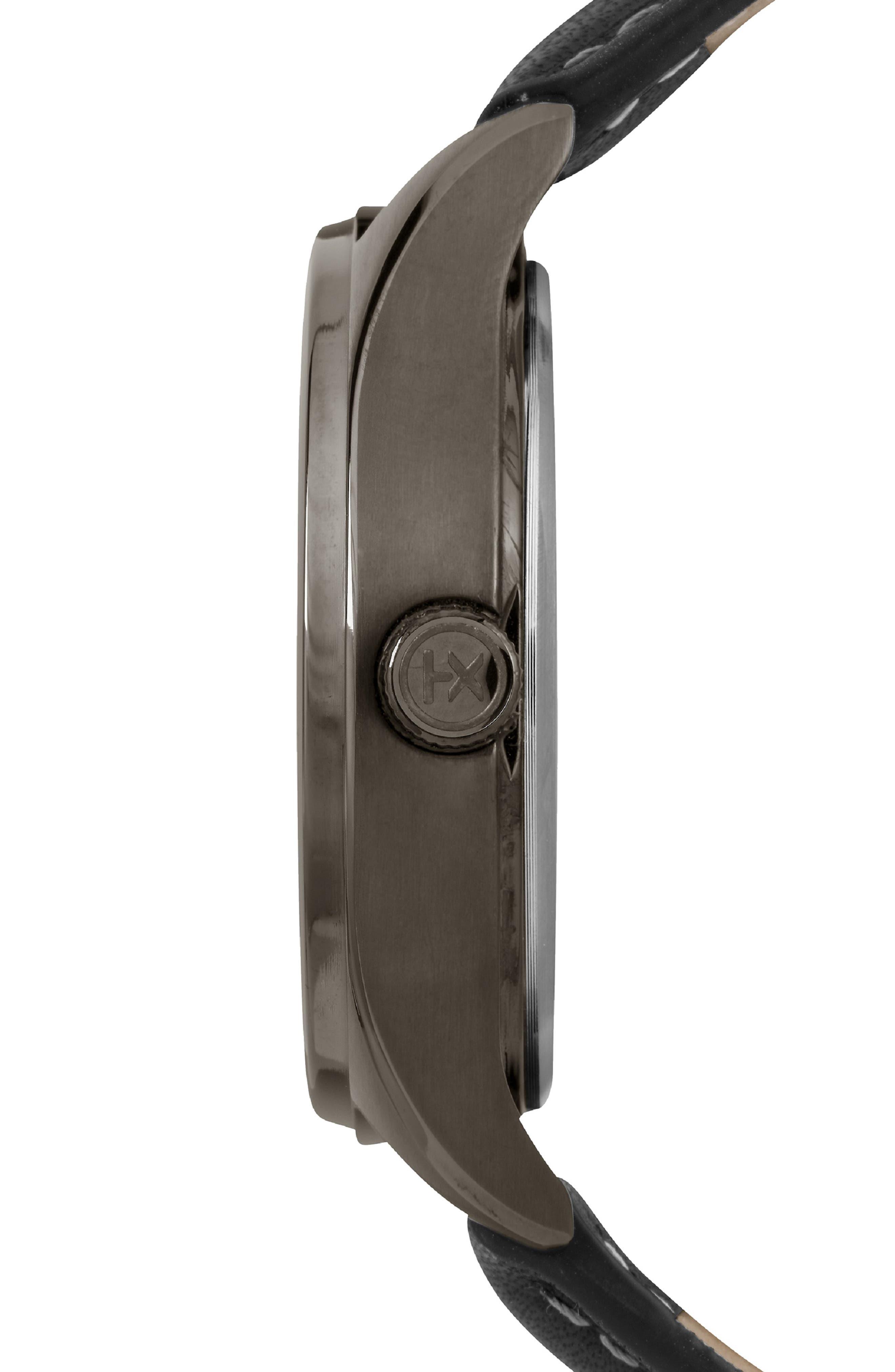 Waterbury Chronograph Bracelet Watch, 42mm,                             Alternate thumbnail 2, color,                             BLACK/ GUNMETAL