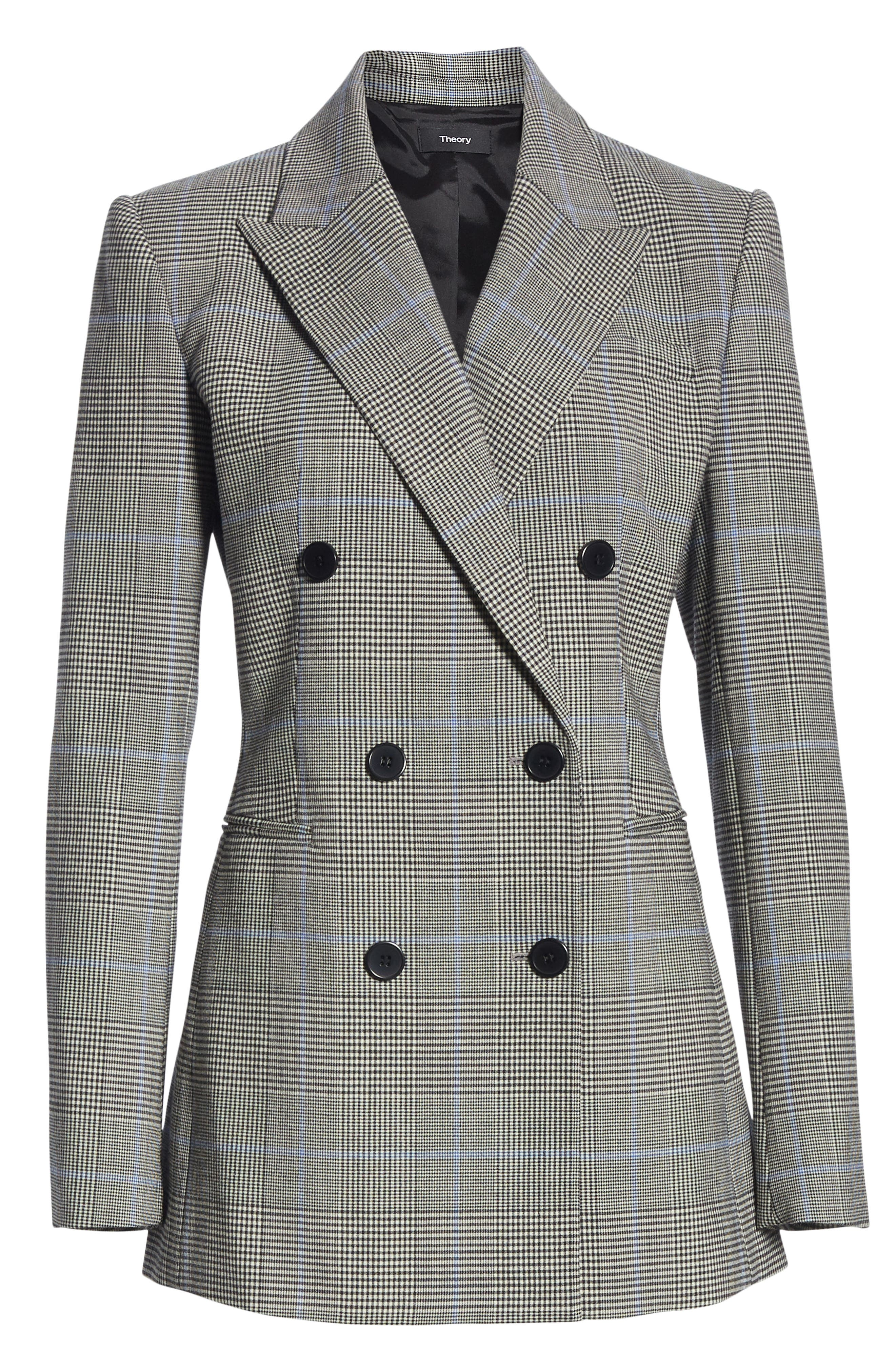THEORY,                             Portland Plaid Power Jacket,                             Alternate thumbnail 6, color,                             020