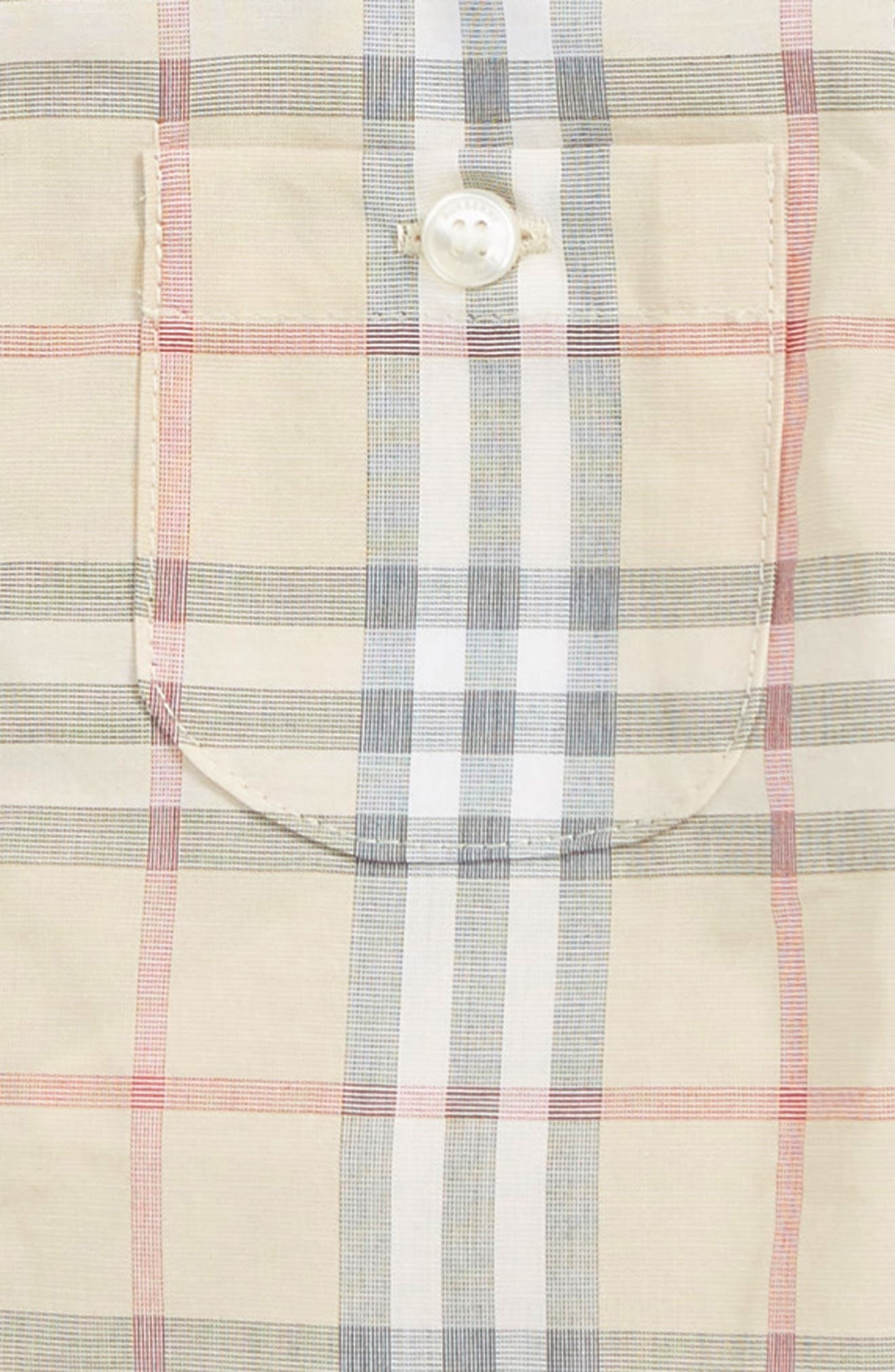 BURBERRY,                             Traul Check Woven Shirt,                             Alternate thumbnail 2, color,                             PALE STONE IP CHECK