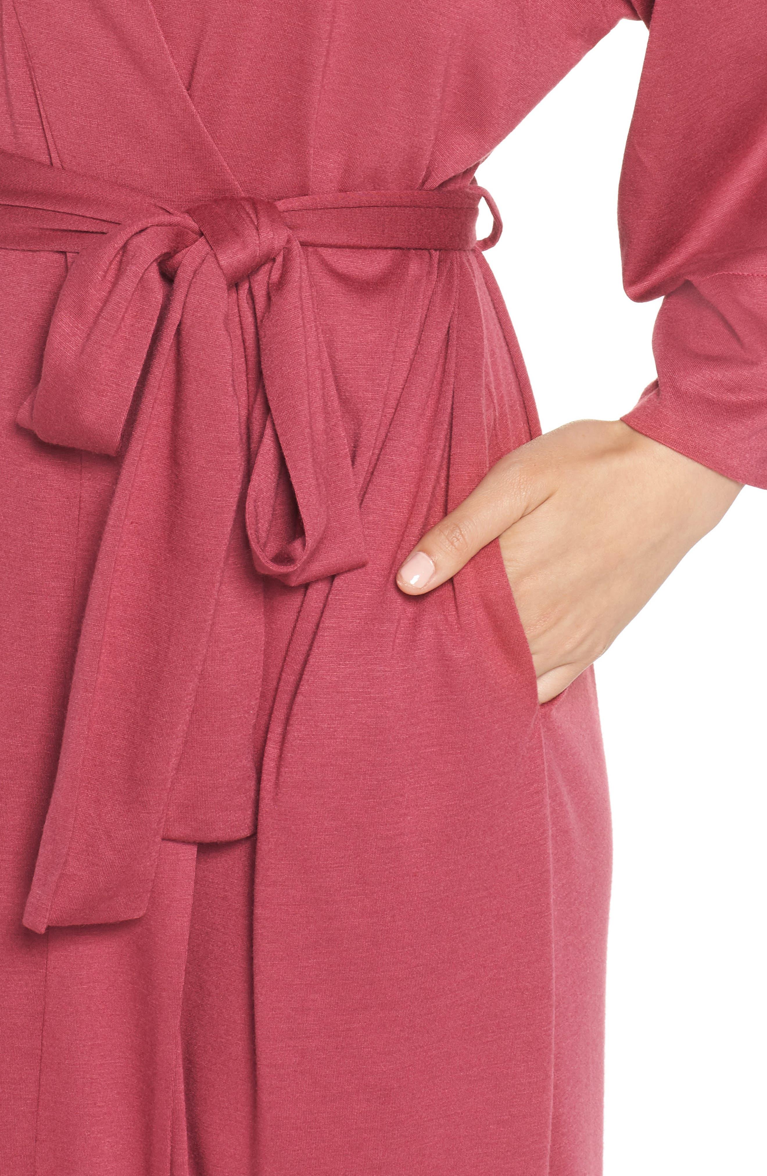 'Shangri-La' Robe,                             Alternate thumbnail 4, color,                             RUB RUBY