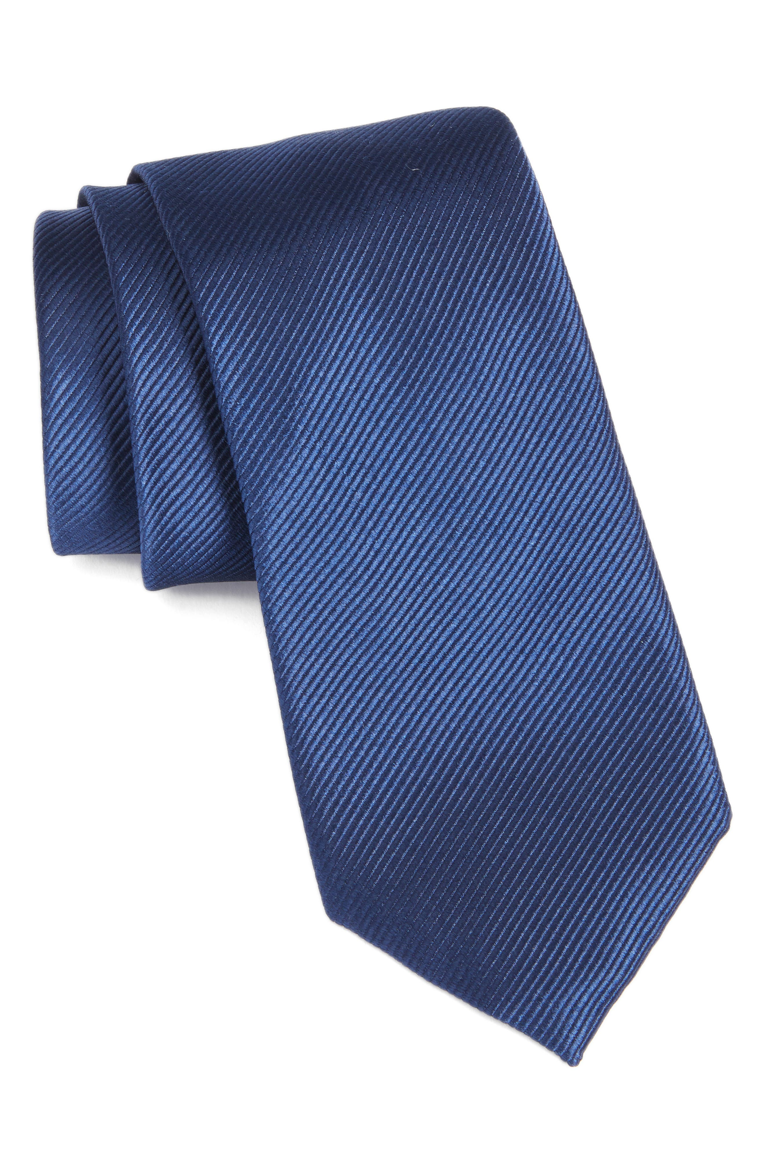 Solid Silk Tie,                         Main,                         color, 411