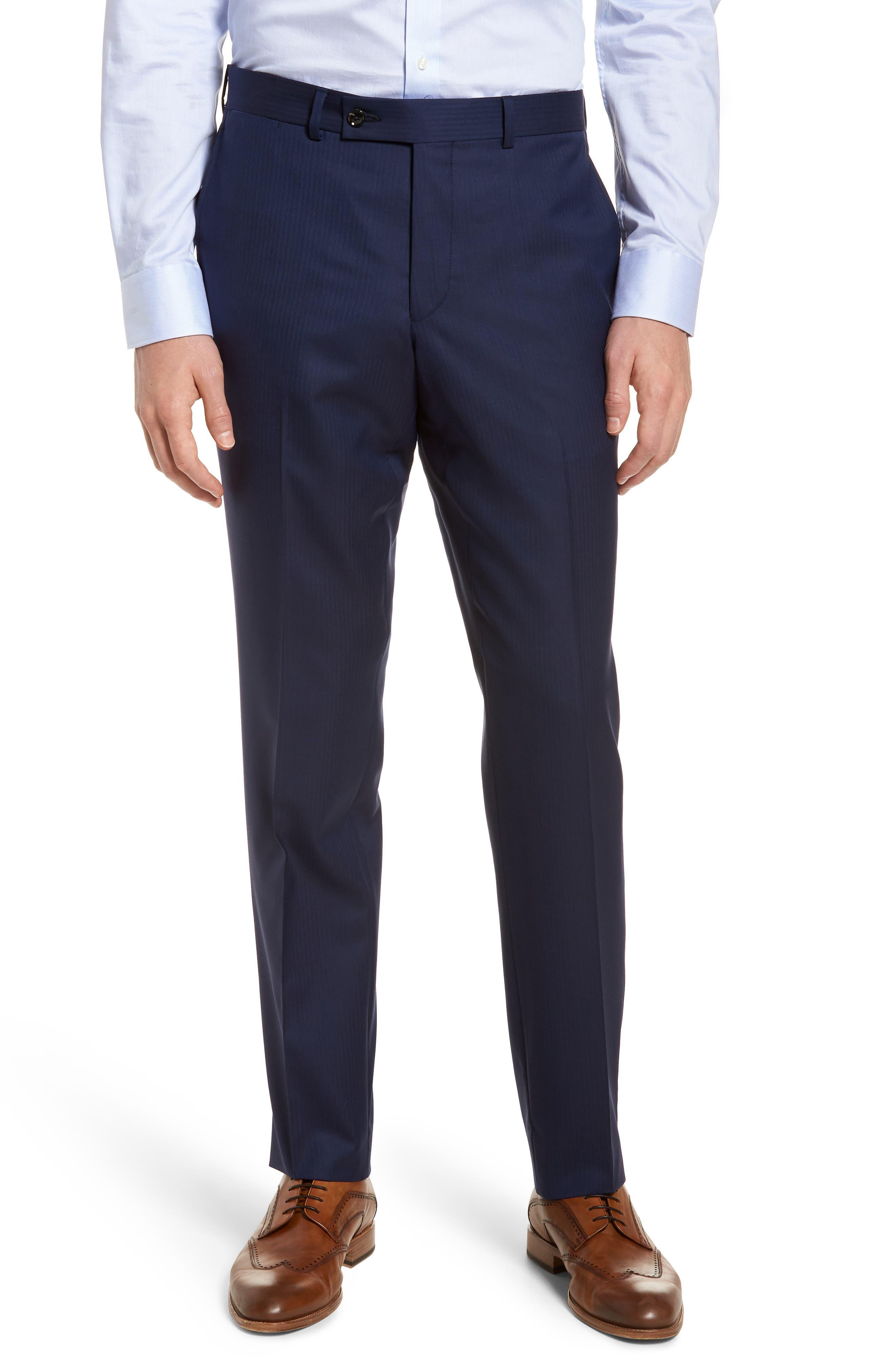 Jay Trim Fit Stripe Wool Suit,                             Alternate thumbnail 8, color,                             410