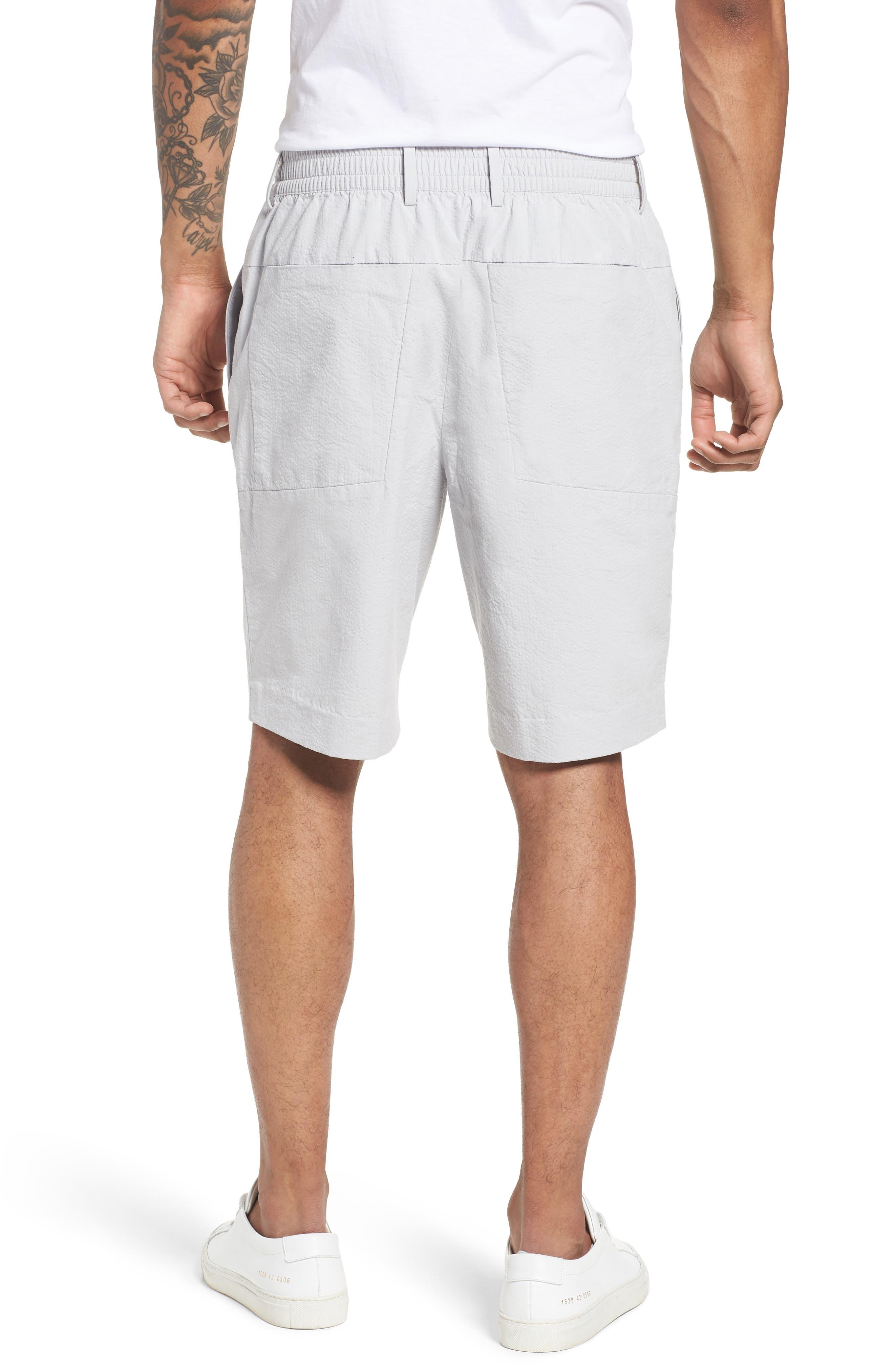 Elastic Waist Seersucker Shorts,                             Alternate thumbnail 2, color,                             030