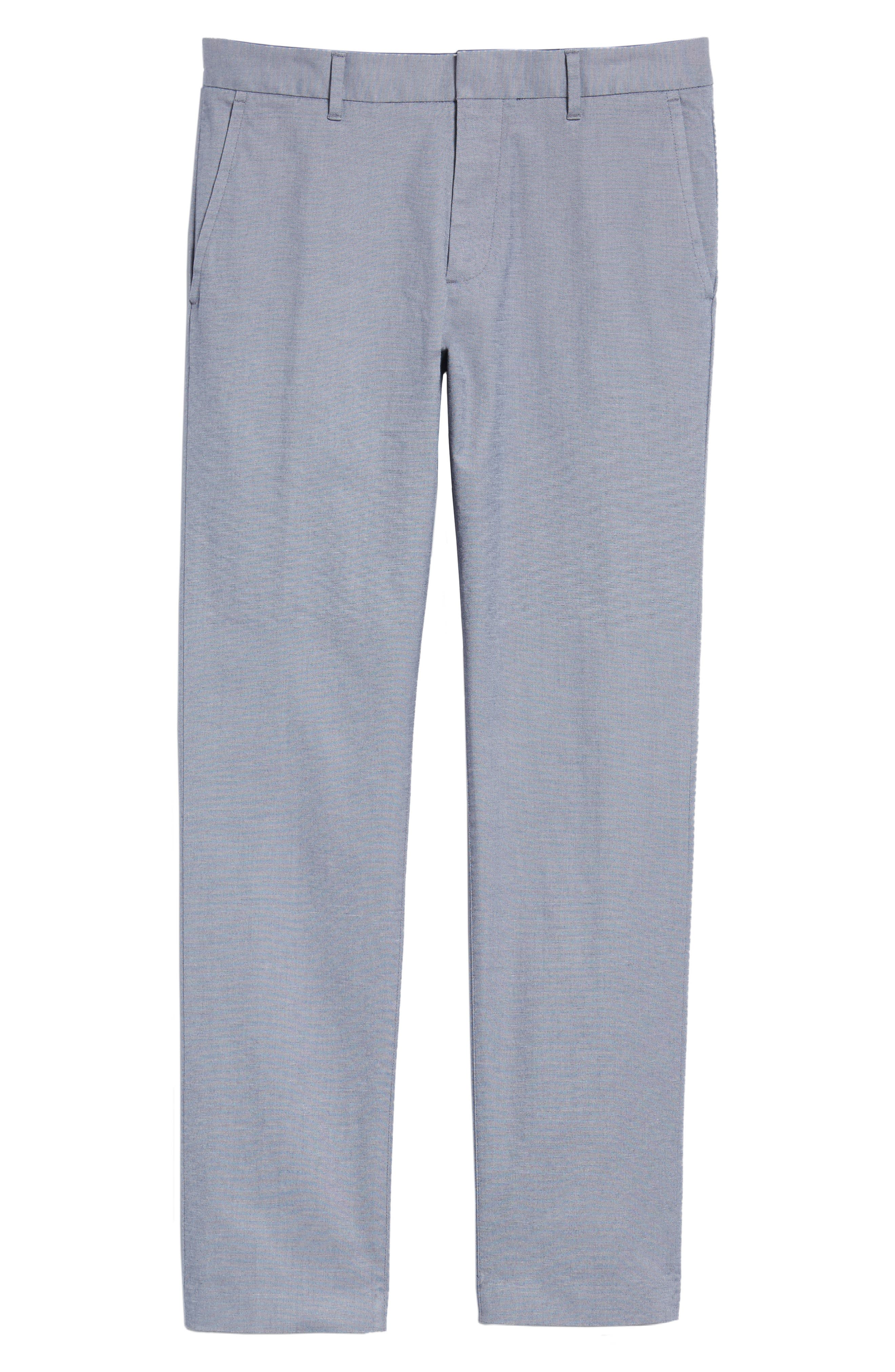 Weekday Warrior Flat Front Stretch Cotton Pants,                             Alternate thumbnail 14, color,
