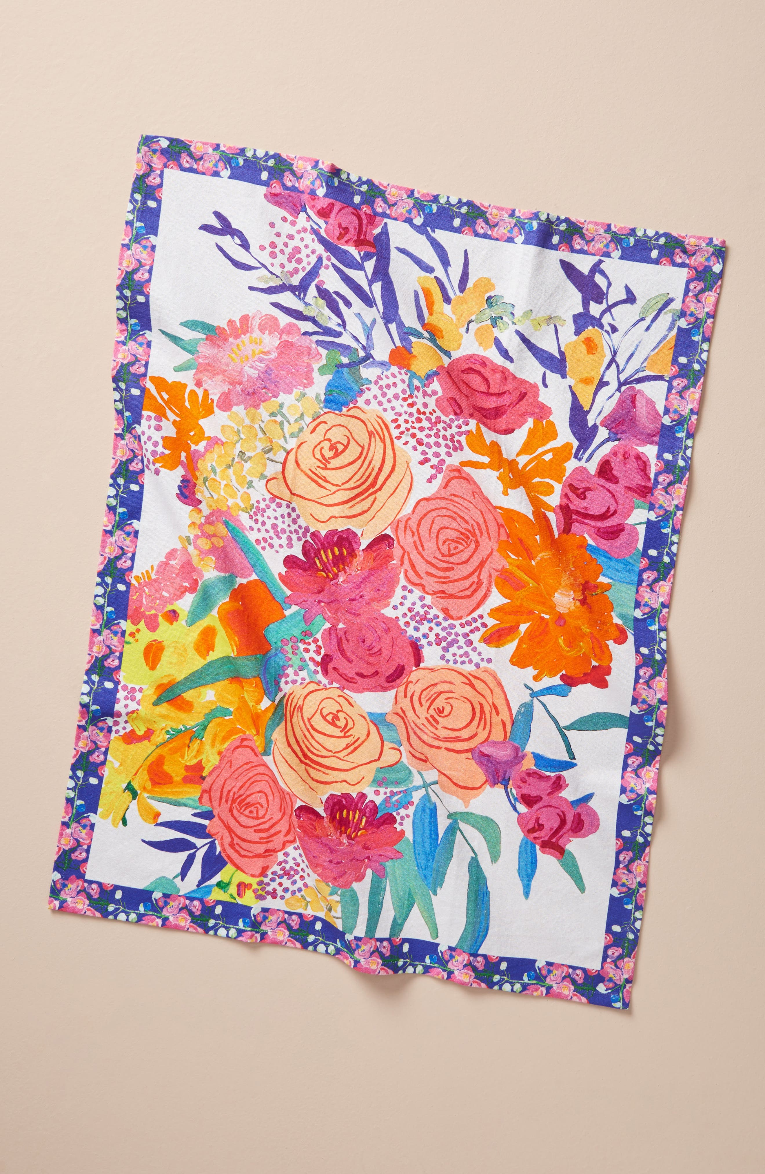 Paint + Petals Dishtowel,                             Main thumbnail 1, color,                             650