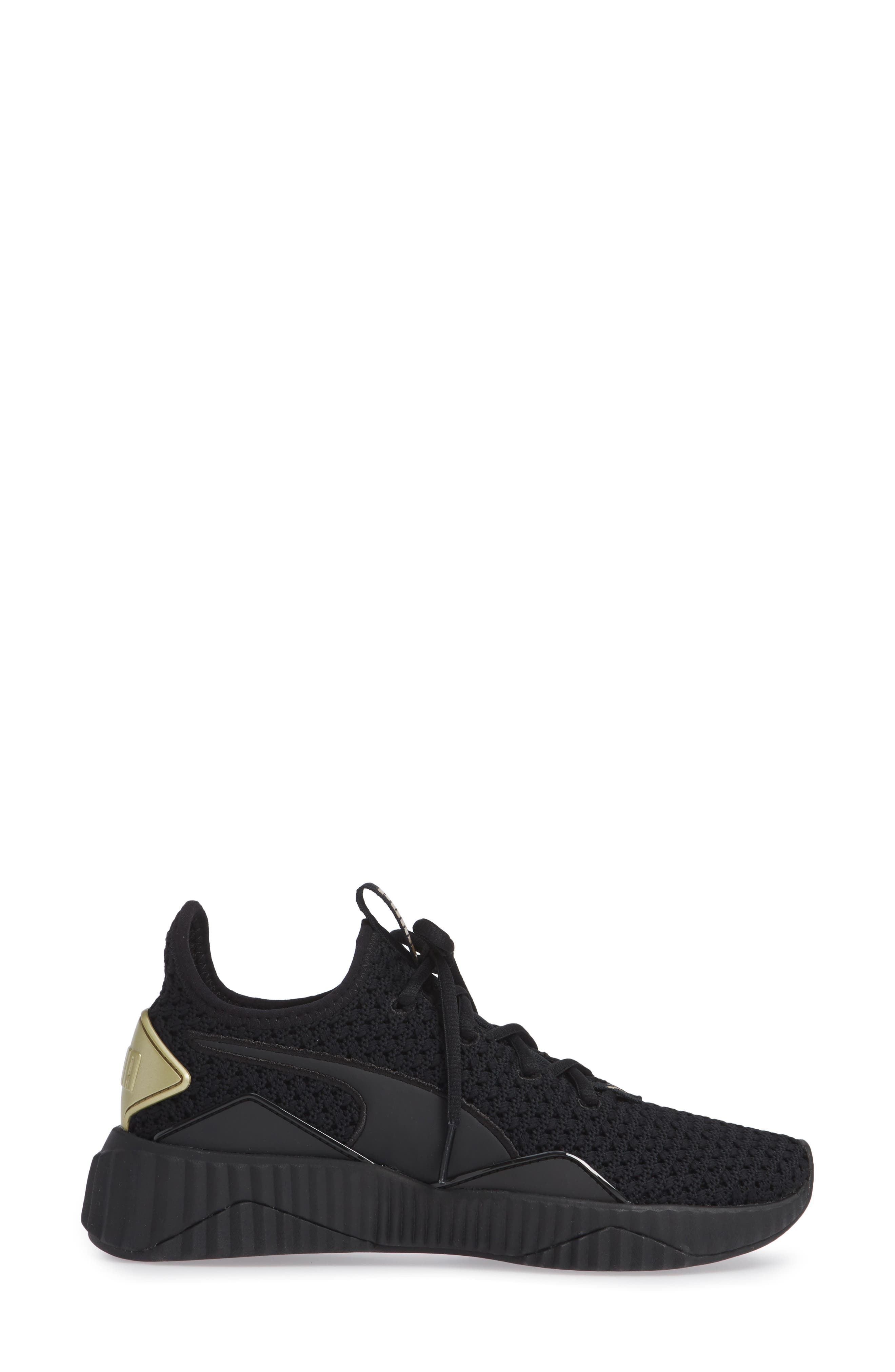 Defy Varsity Sneaker,                             Alternate thumbnail 3, color,                             001