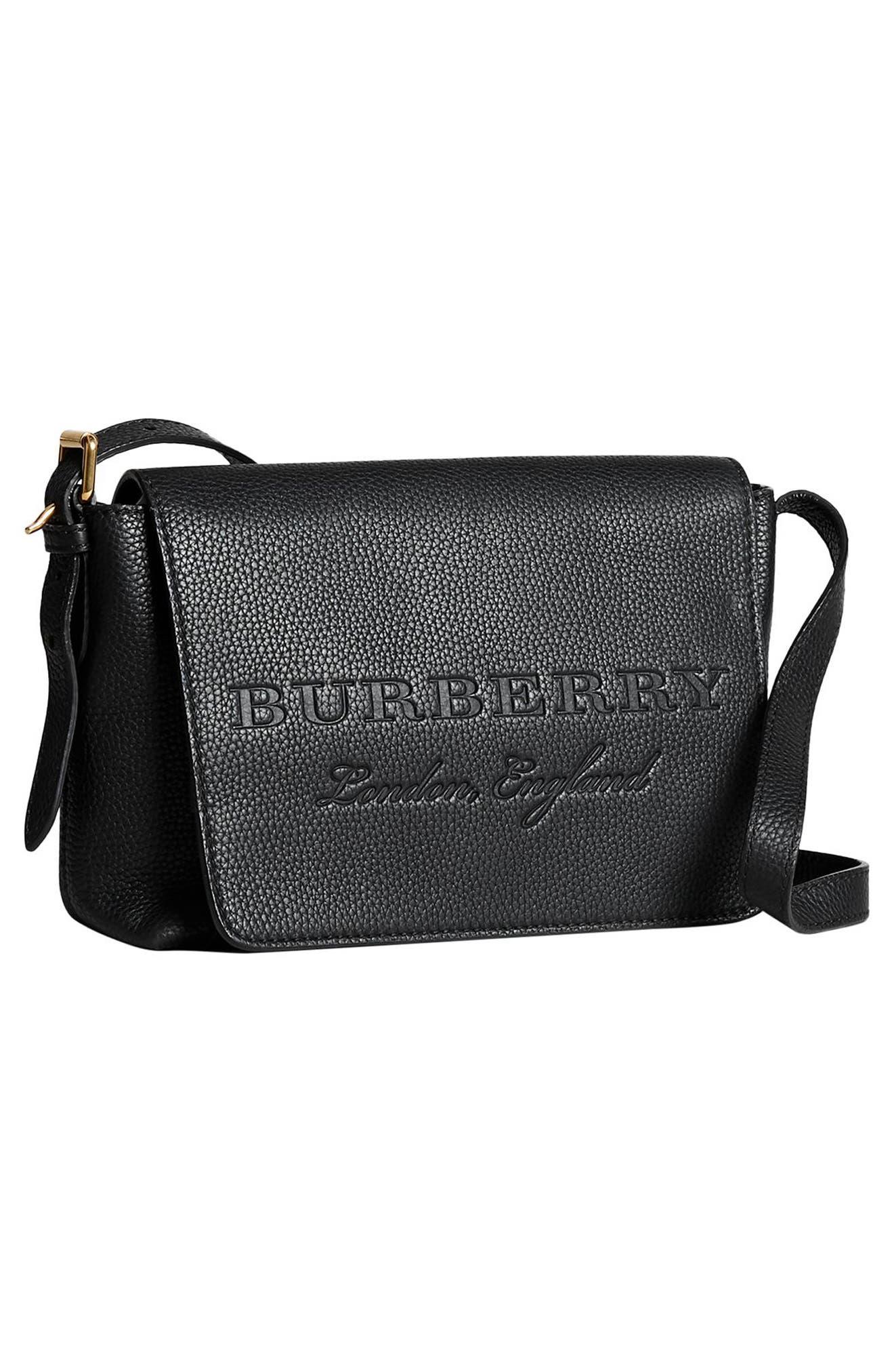 Small Burleigh Leather Crossbody Bag,                             Alternate thumbnail 5, color,                             001