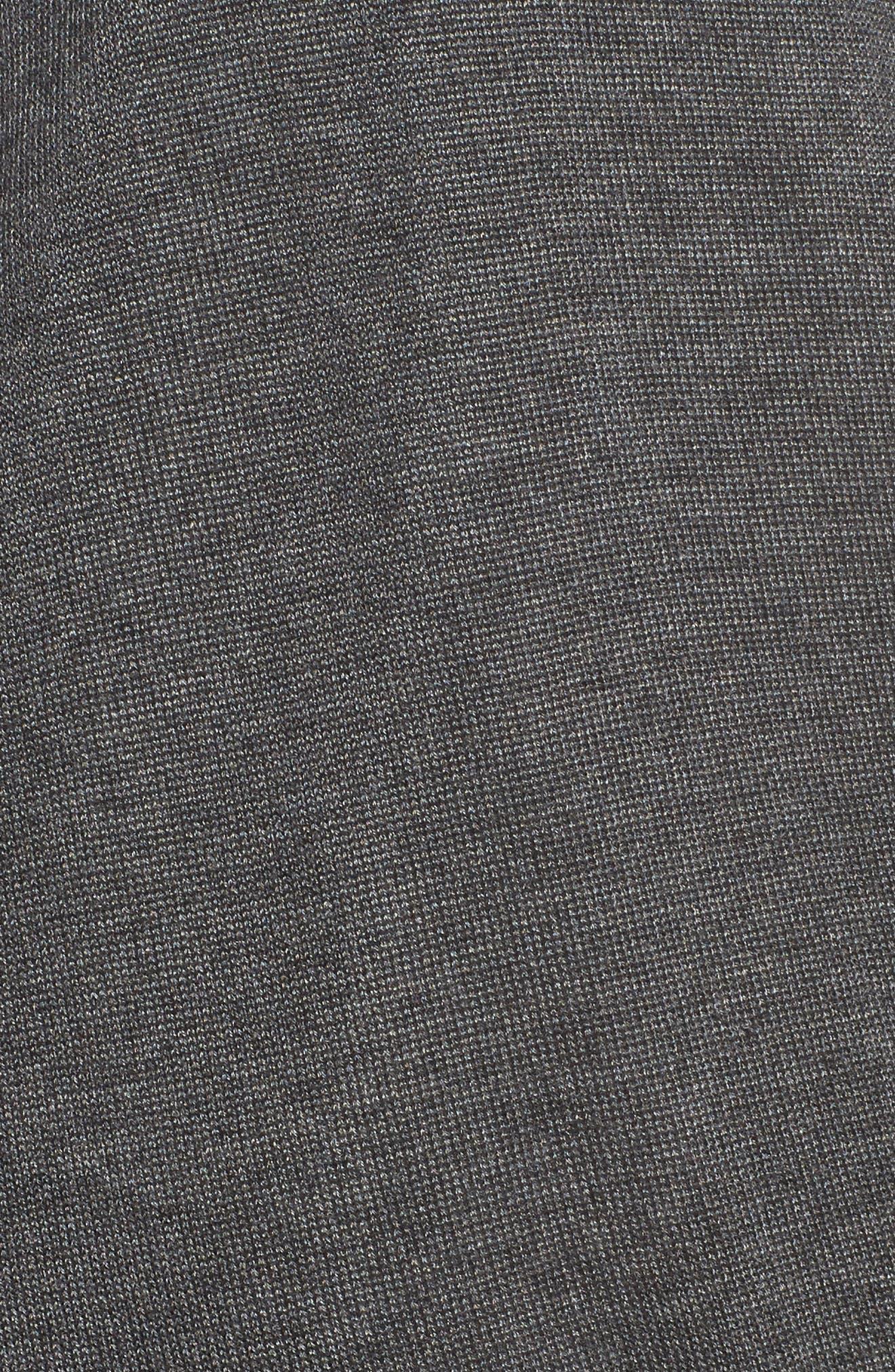 Faux Wrap Tencel<sup>®</sup> Lyocell & Merino Wool Sweater,                             Alternate thumbnail 5, color,