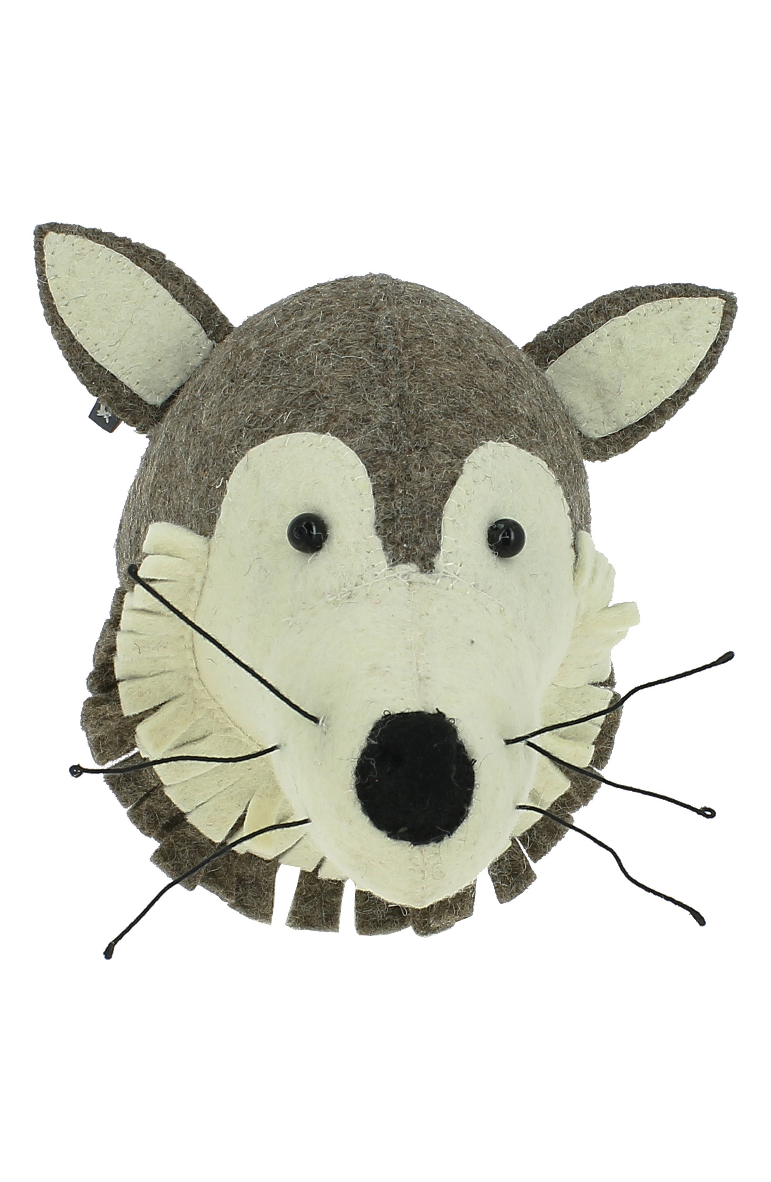 Fiona Walker Mini Wolf Head Wall Art Size One Size  Grey