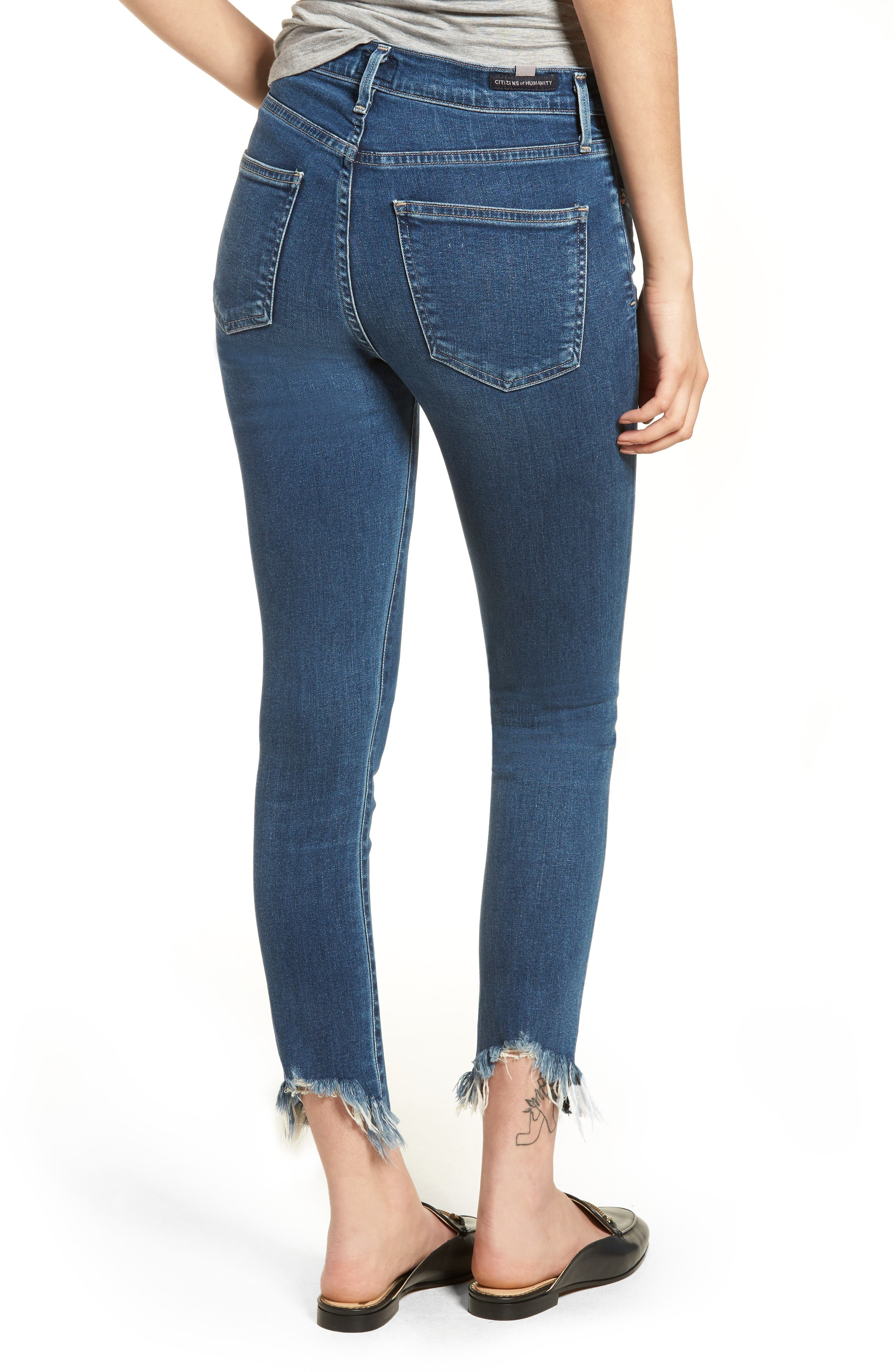 Rocket High Waist Crop Skinny Jeans,                             Alternate thumbnail 2, color,                             FREQUENCY