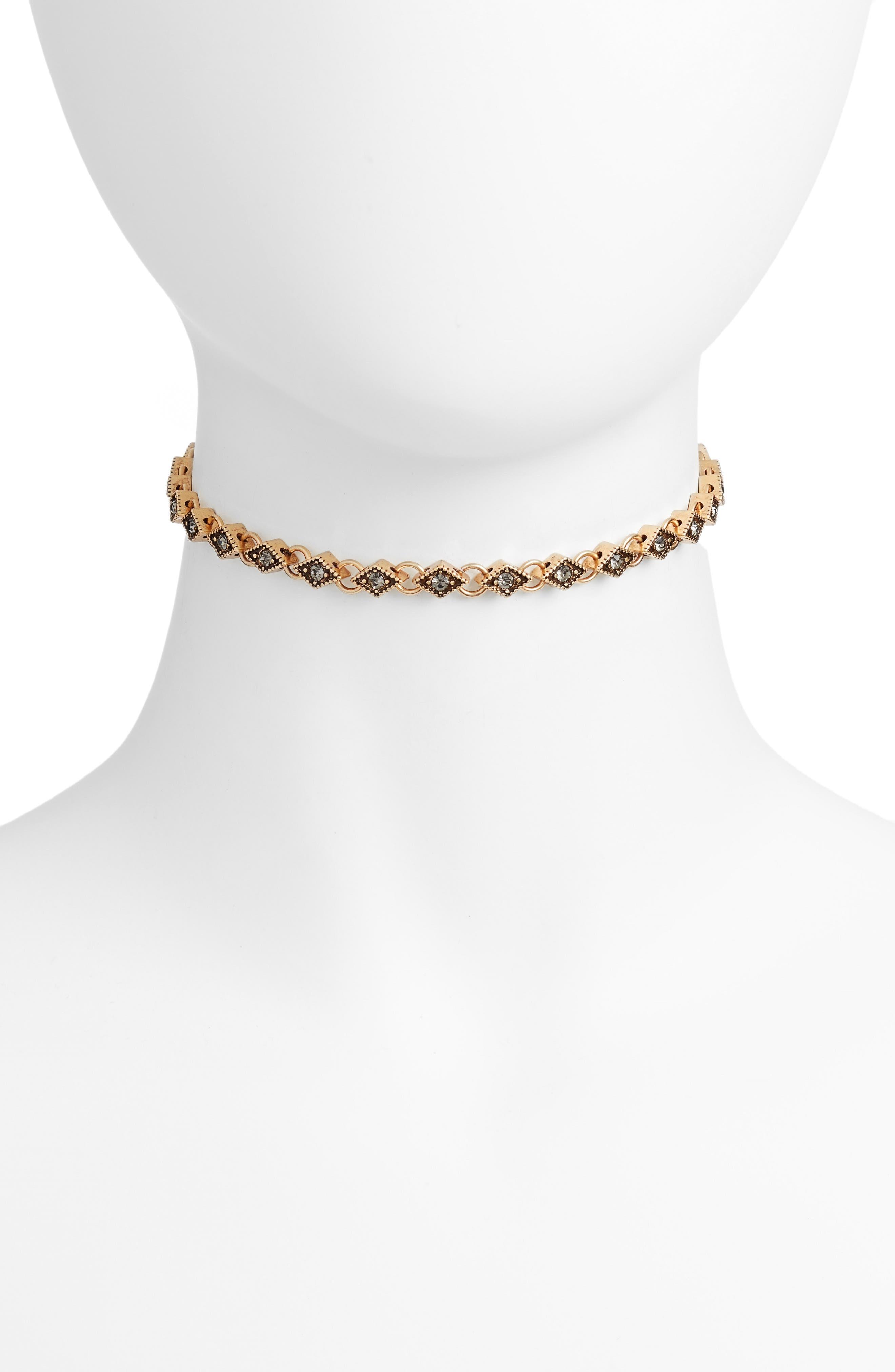 Diamond Choker Necklace,                             Main thumbnail 2, color,