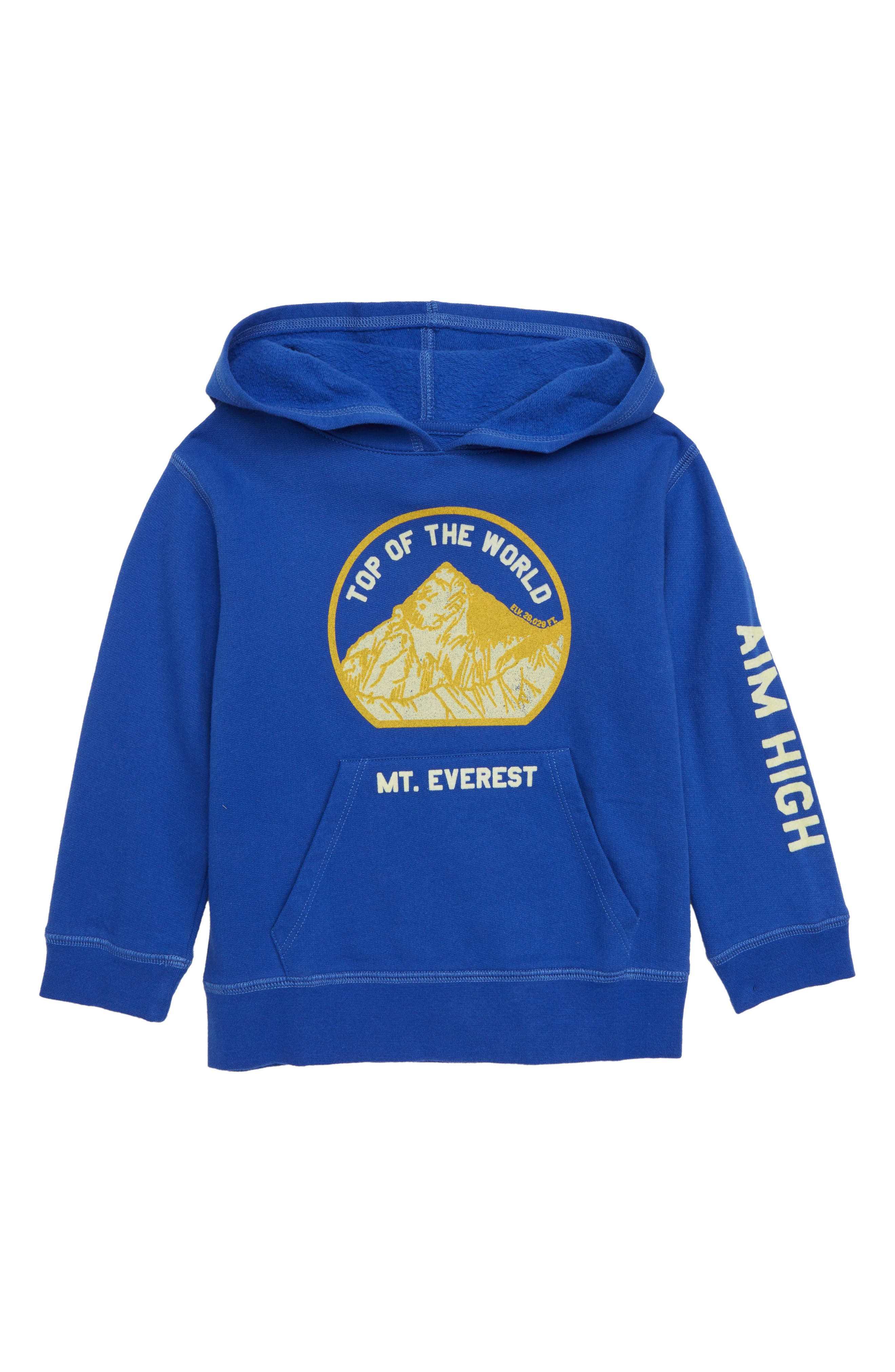 Aim High Hoodie,                         Main,                         color, BLUE