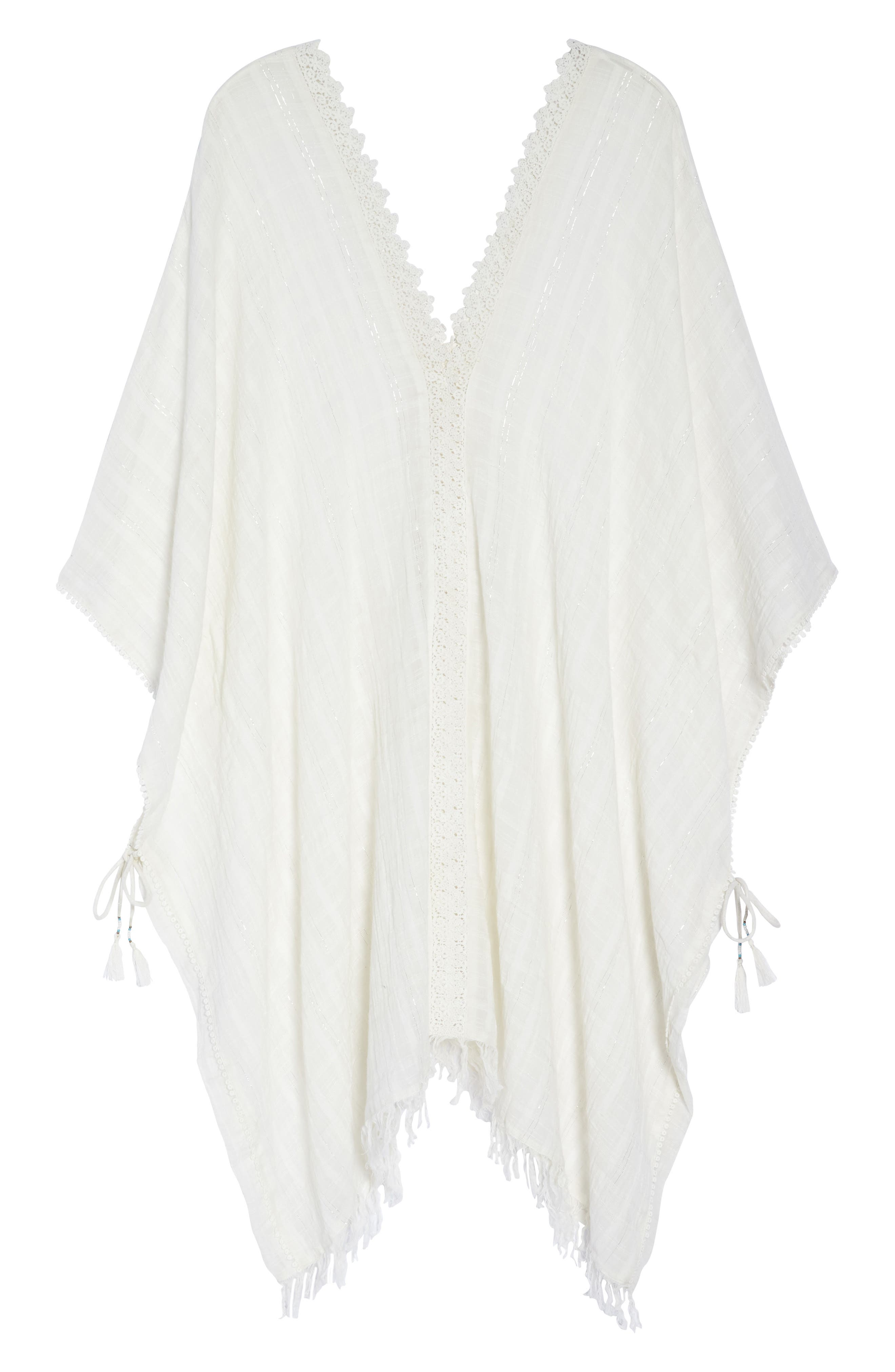 Serendipity Cover-Up Tunic,                             Alternate thumbnail 6, color,                             WHITE-SILVER
