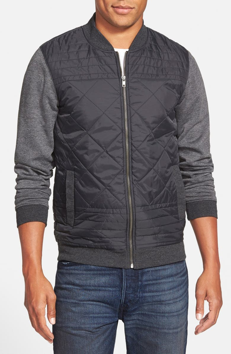 The Rail Quilted Nylon Bomber Jacket Nordstrom