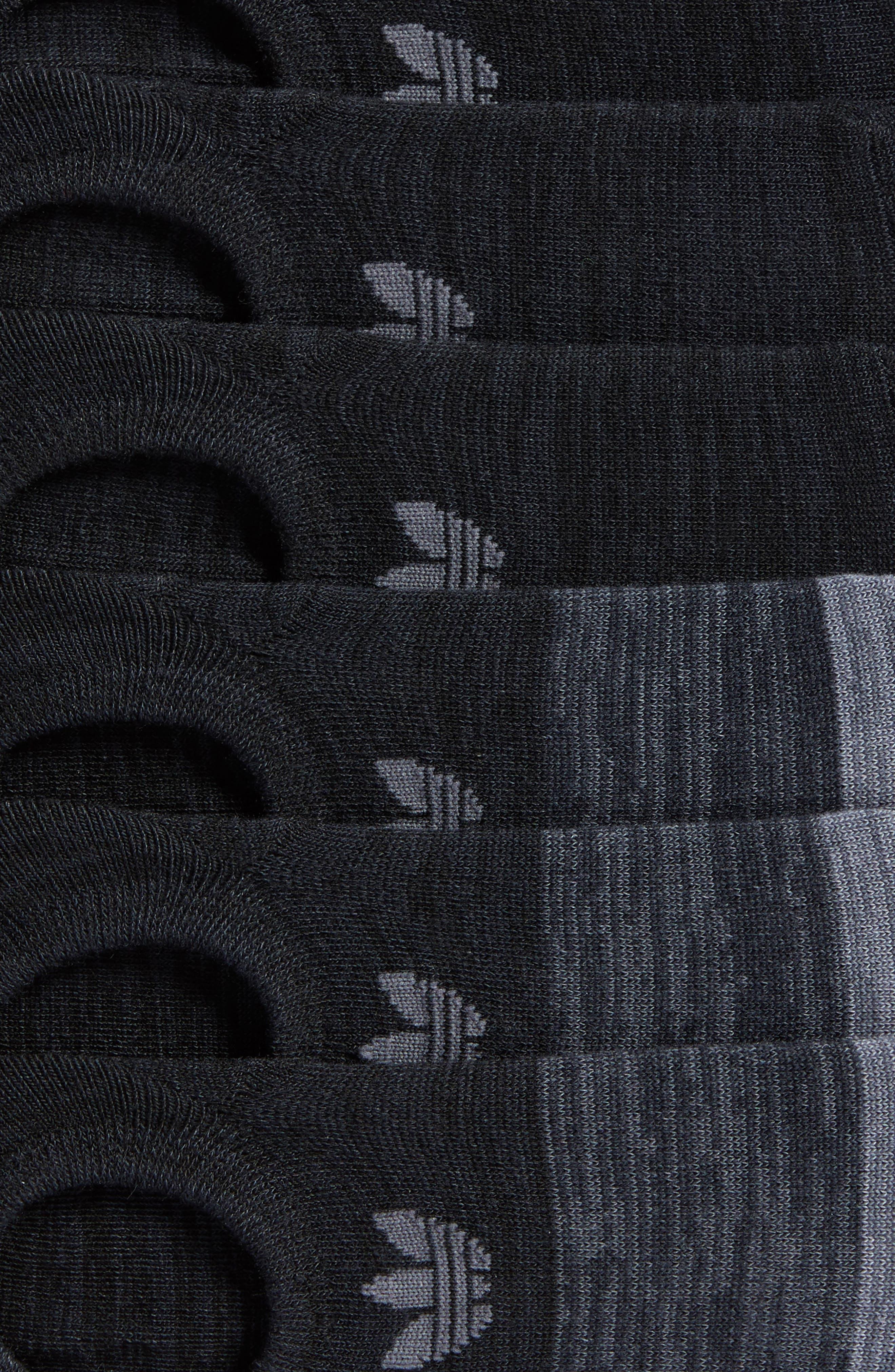 Block Space Dye 6-Pack Super No-Show Socks,                             Alternate thumbnail 2, color,