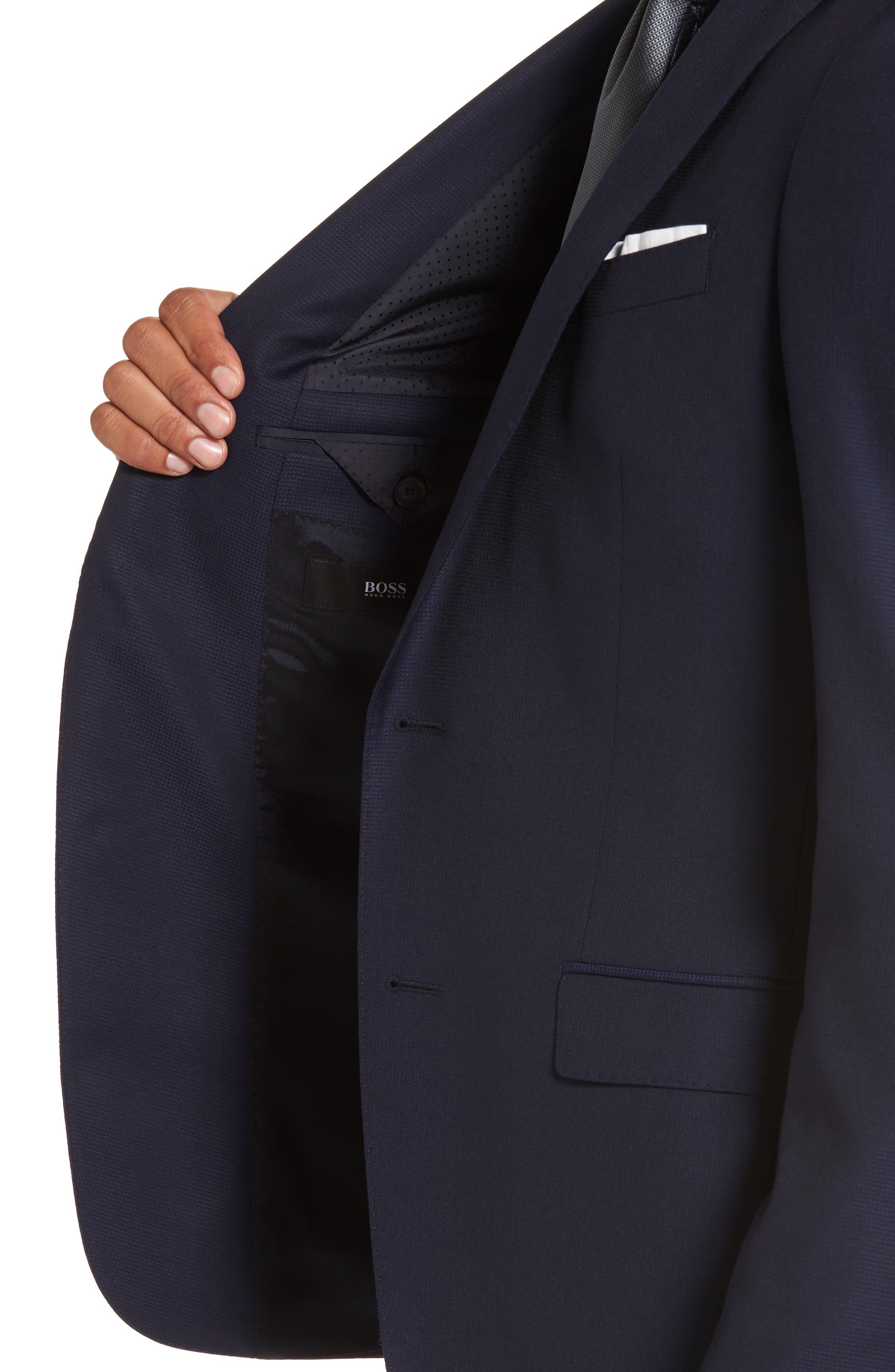 Nestro/Byte Trim Fit Solid Wool Suit,                             Alternate thumbnail 4, color,                             410