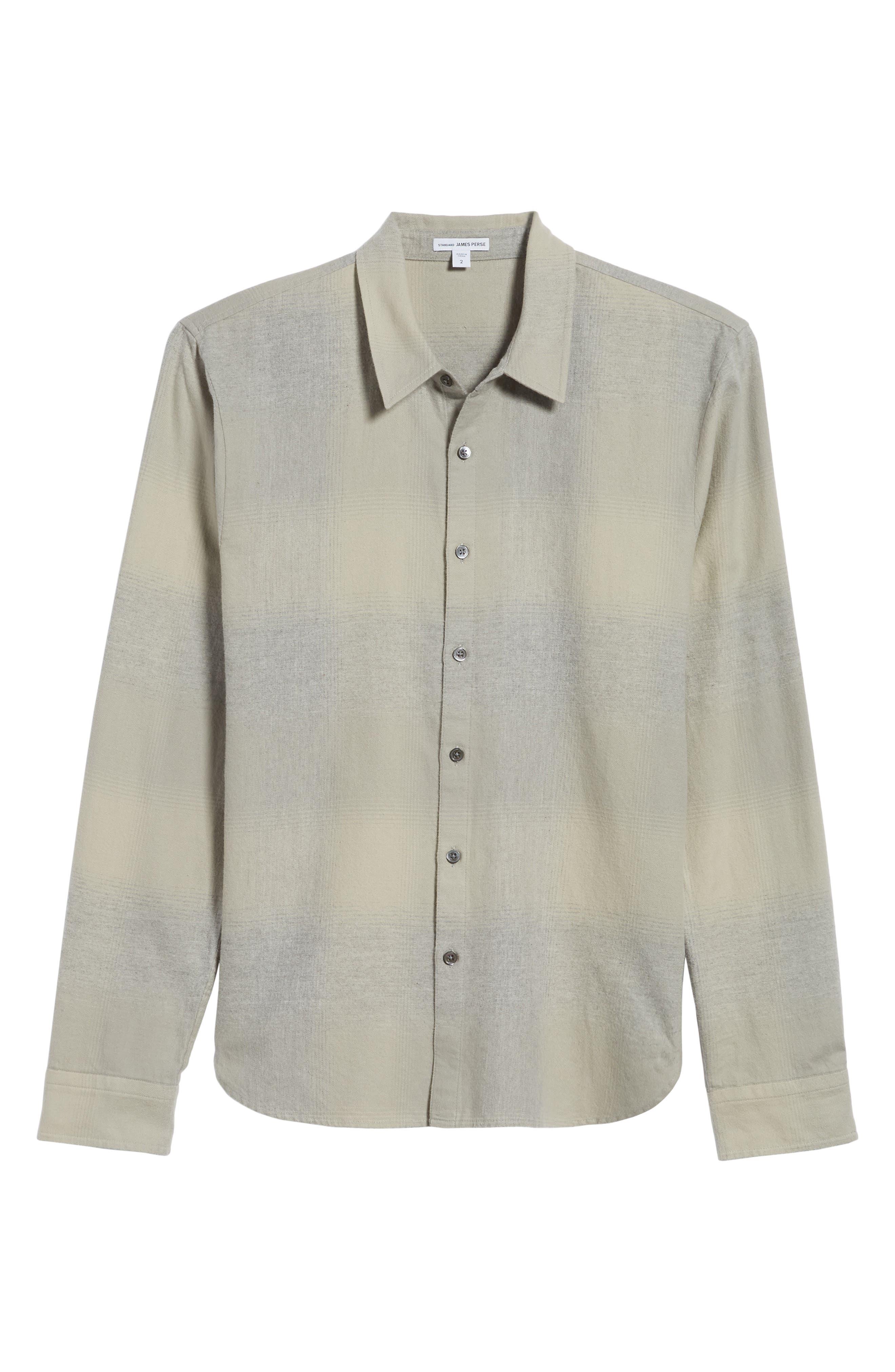 JAMES PERSE,                             Ghost Regular Fit Plaid Sport Shirt,                             Alternate thumbnail 6, color,                             086
