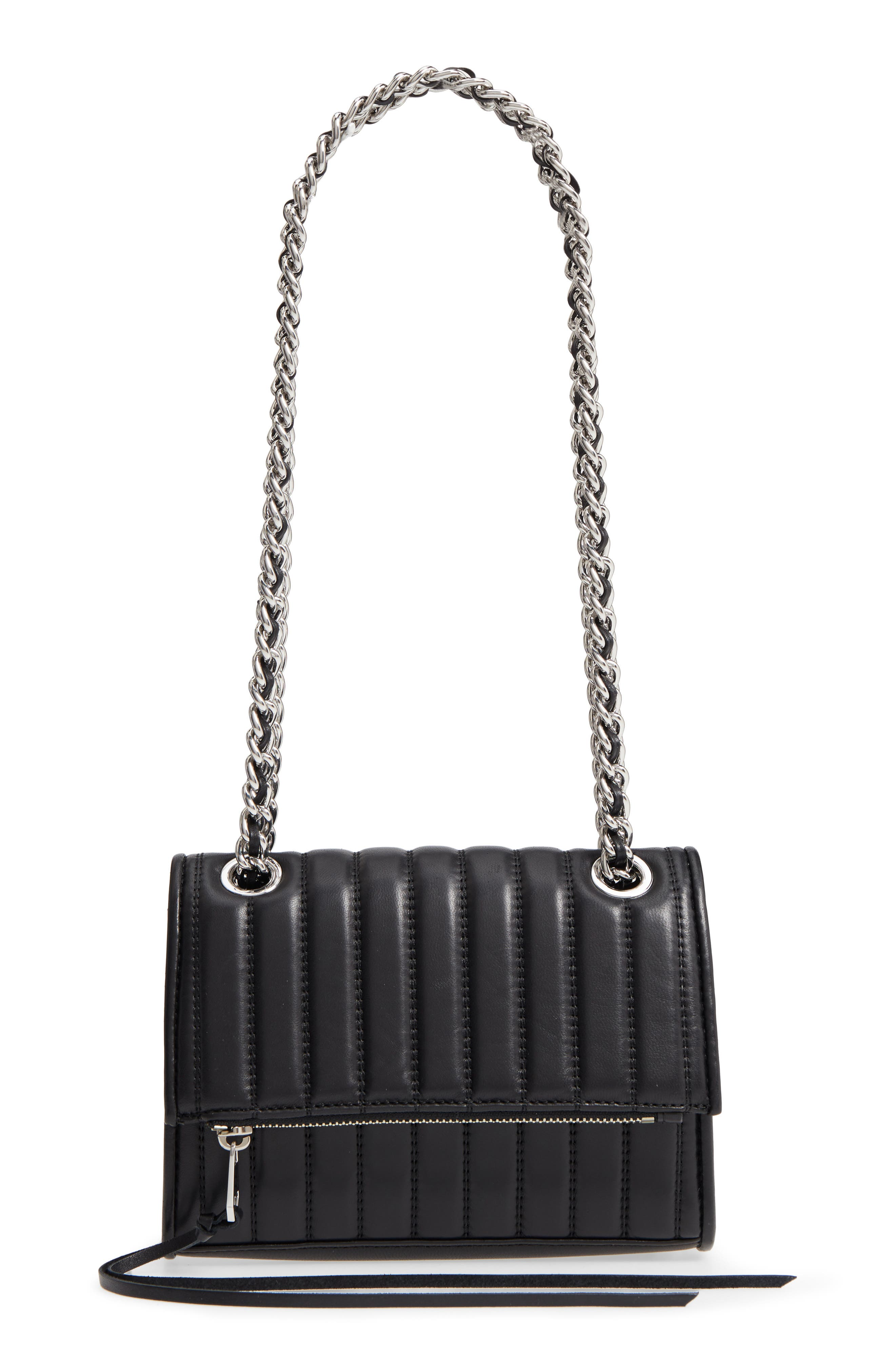 Dylan Quilted Leather Crossbody Bag,                             Main thumbnail 1, color,                             001