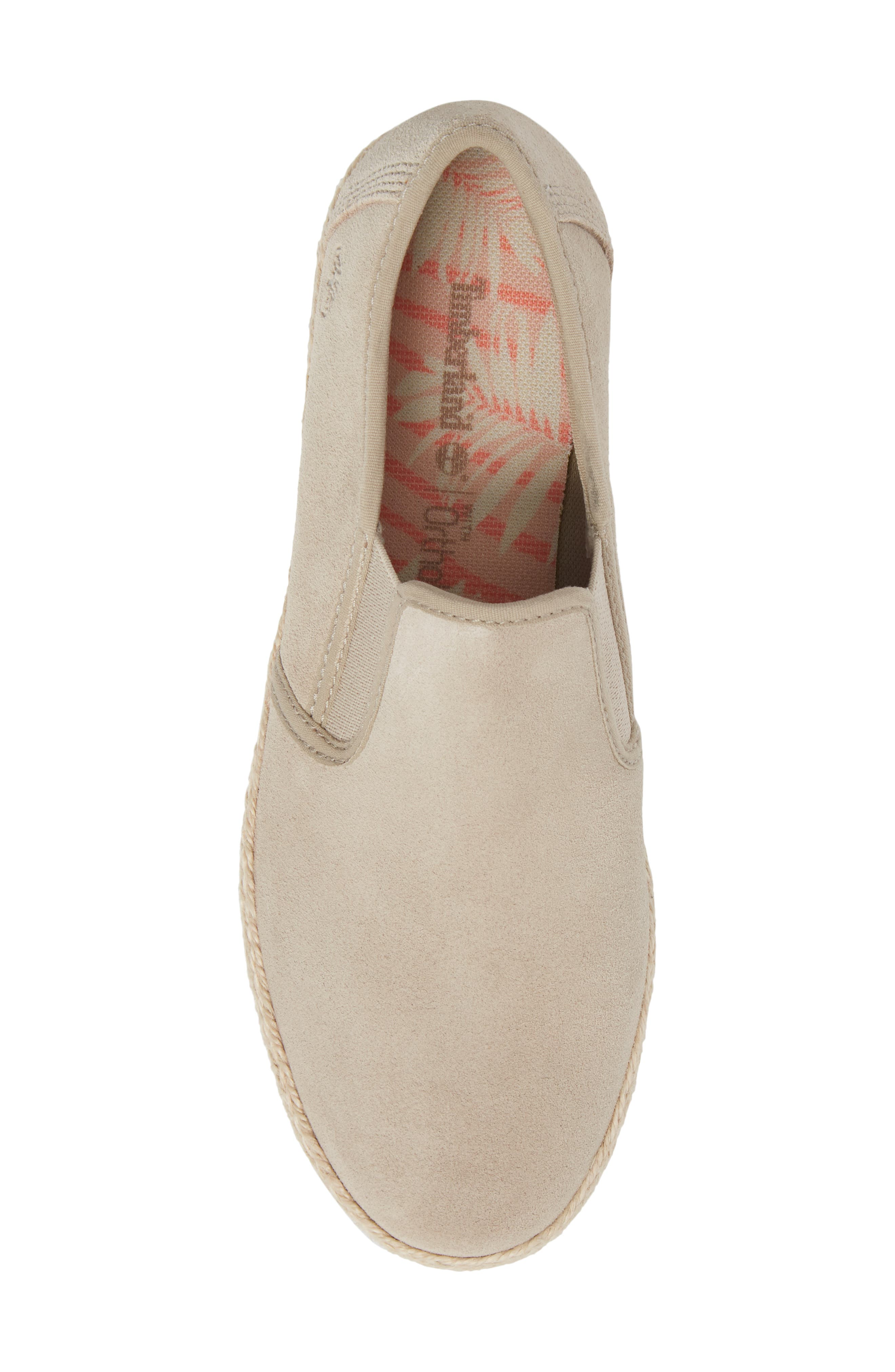 Eivissa Sea Slip-On Sneaker,                             Alternate thumbnail 5, color,                             LIGHT BEIGE LEATHER