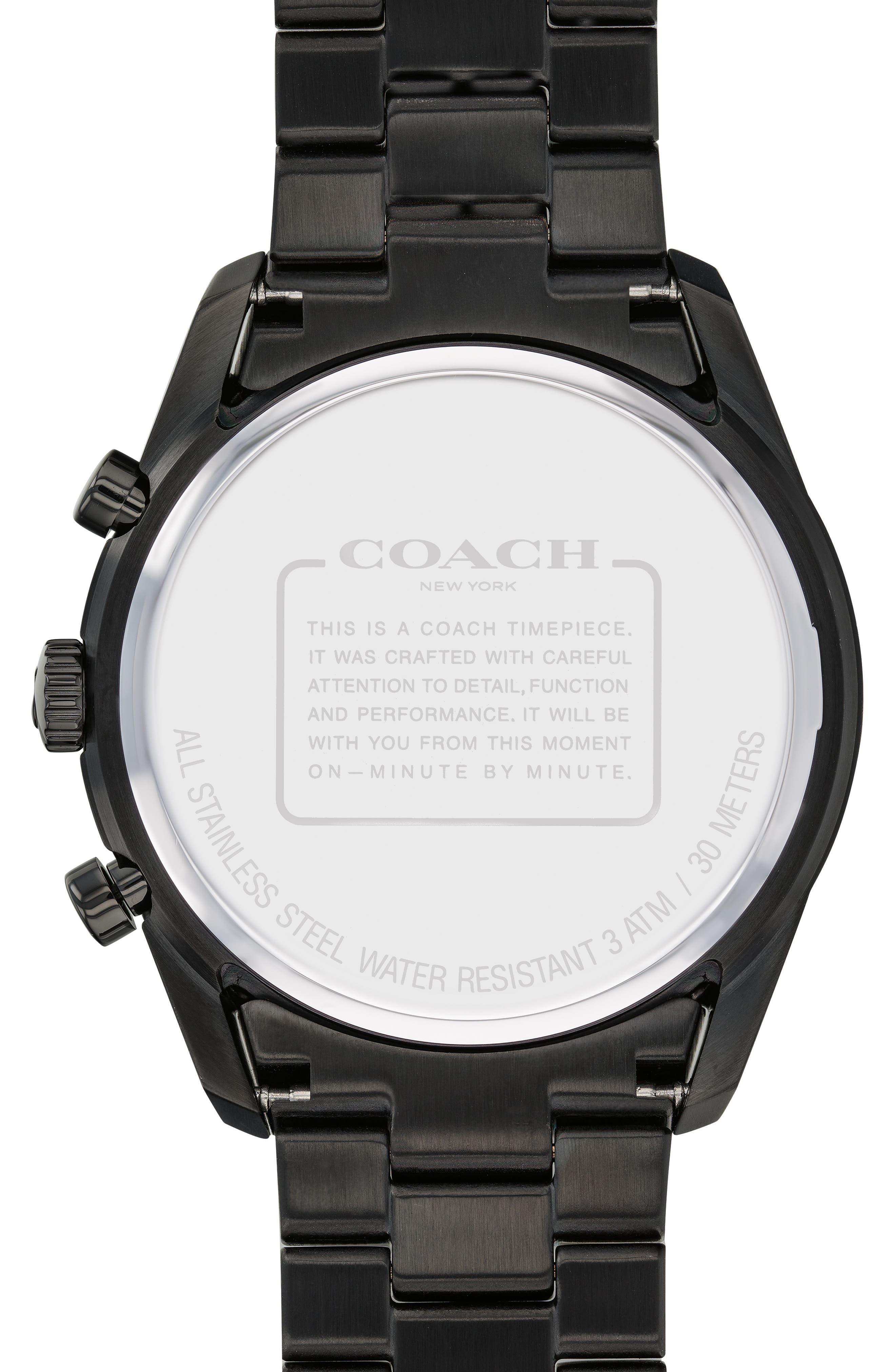 Thompson Sport Chronograph Bracelet Watch, 41mm,                             Alternate thumbnail 2, color,                             BLACK