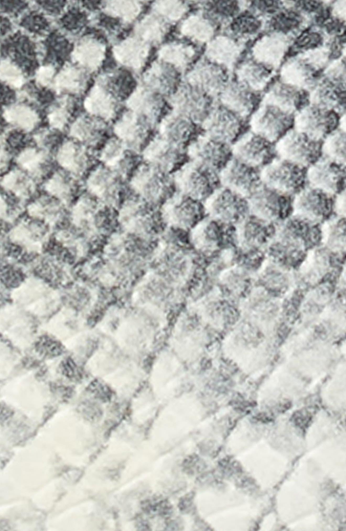 Snakeskin Embossed Faux Leather Belt,                             Alternate thumbnail 3, color,                             GREY