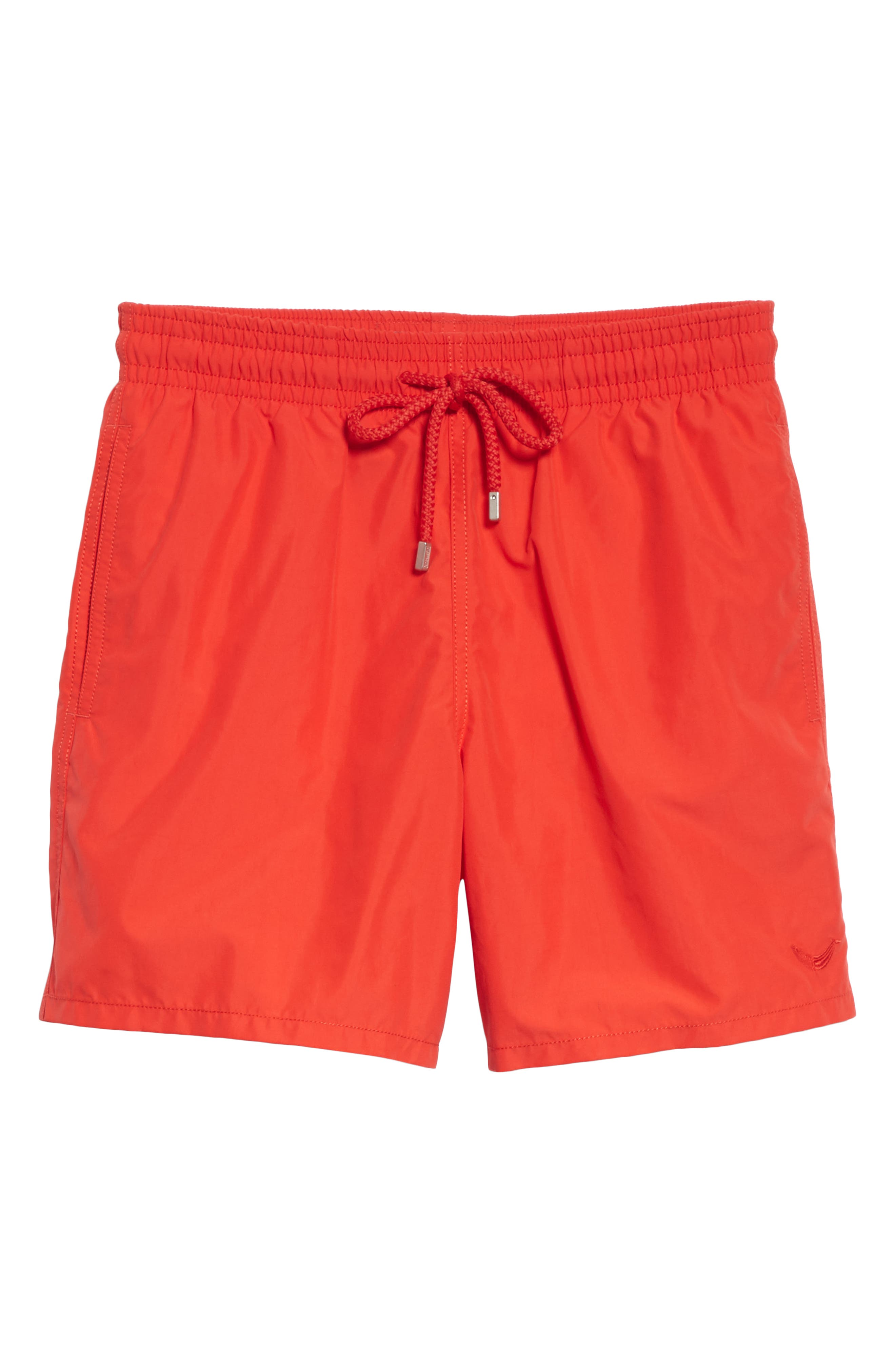 Magic Whales Water Reactive Swim Trunks,                             Alternate thumbnail 6, color,                             POPPY