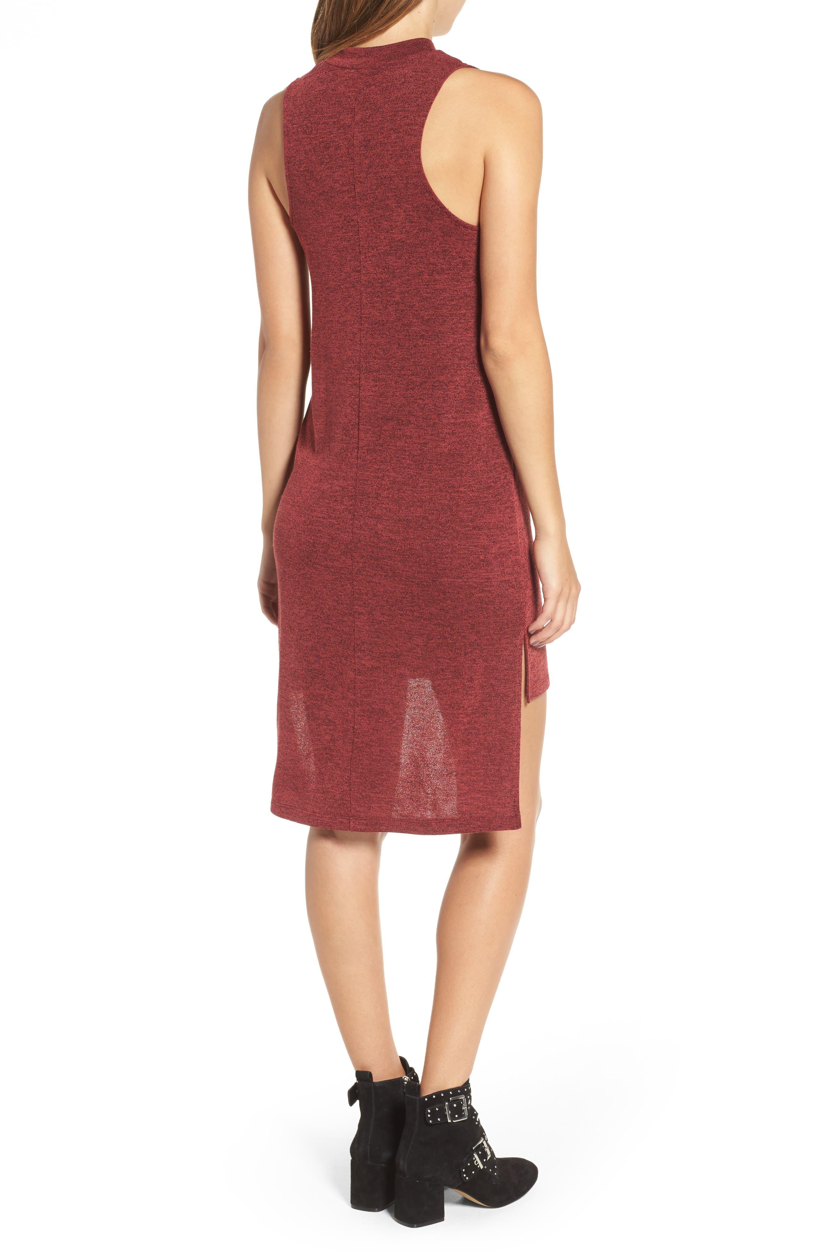 Mock Neck Sleeveless Midi Dress,                             Alternate thumbnail 2, color,                             930