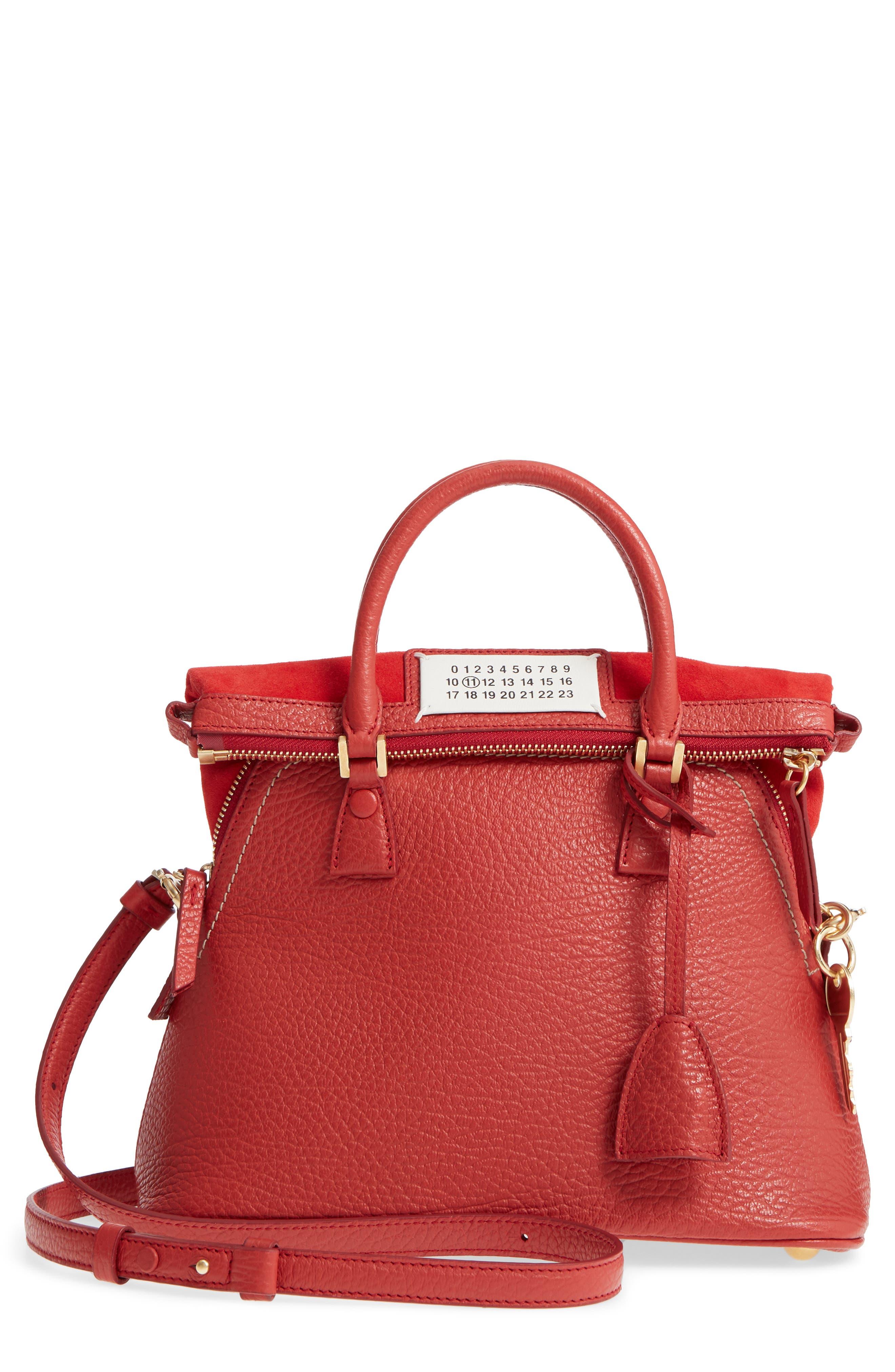 Small 5AC Calfskin Leather Handbag,                             Main thumbnail 1, color,                             600