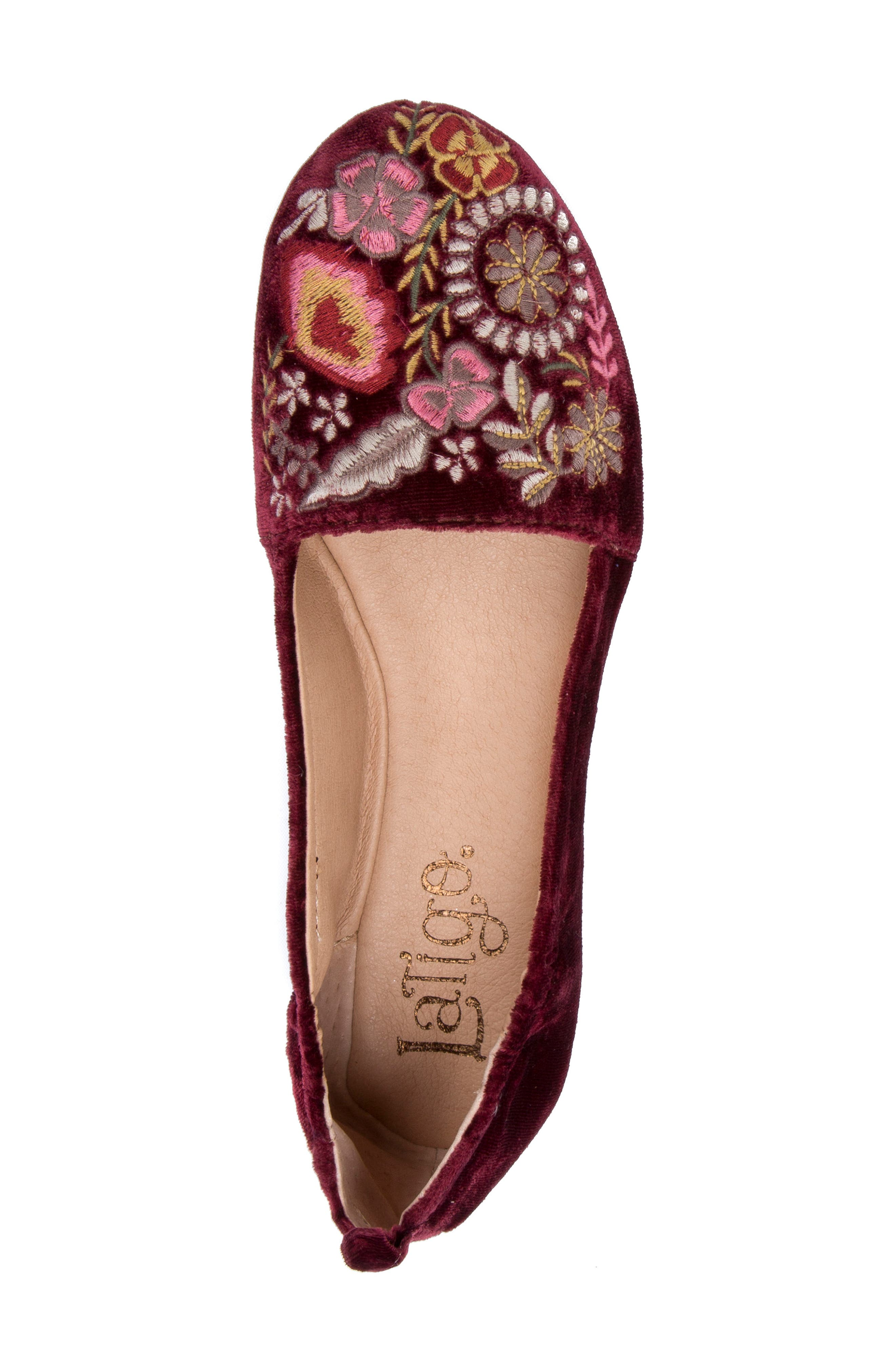 Gayla Floral Embroidered Flat,                             Alternate thumbnail 14, color,