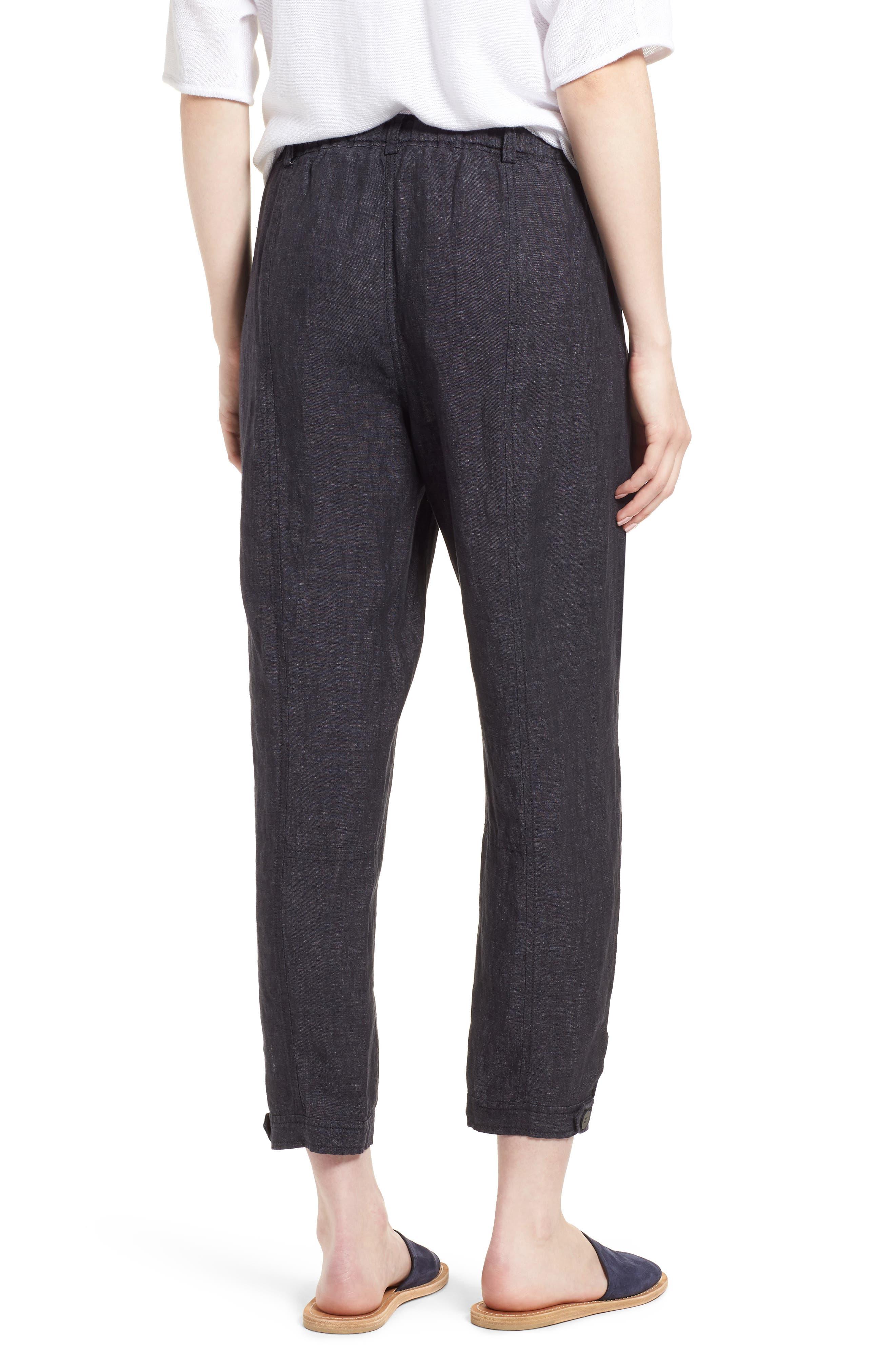 Easy Ankle Organic Linen Pants,                             Alternate thumbnail 3, color,