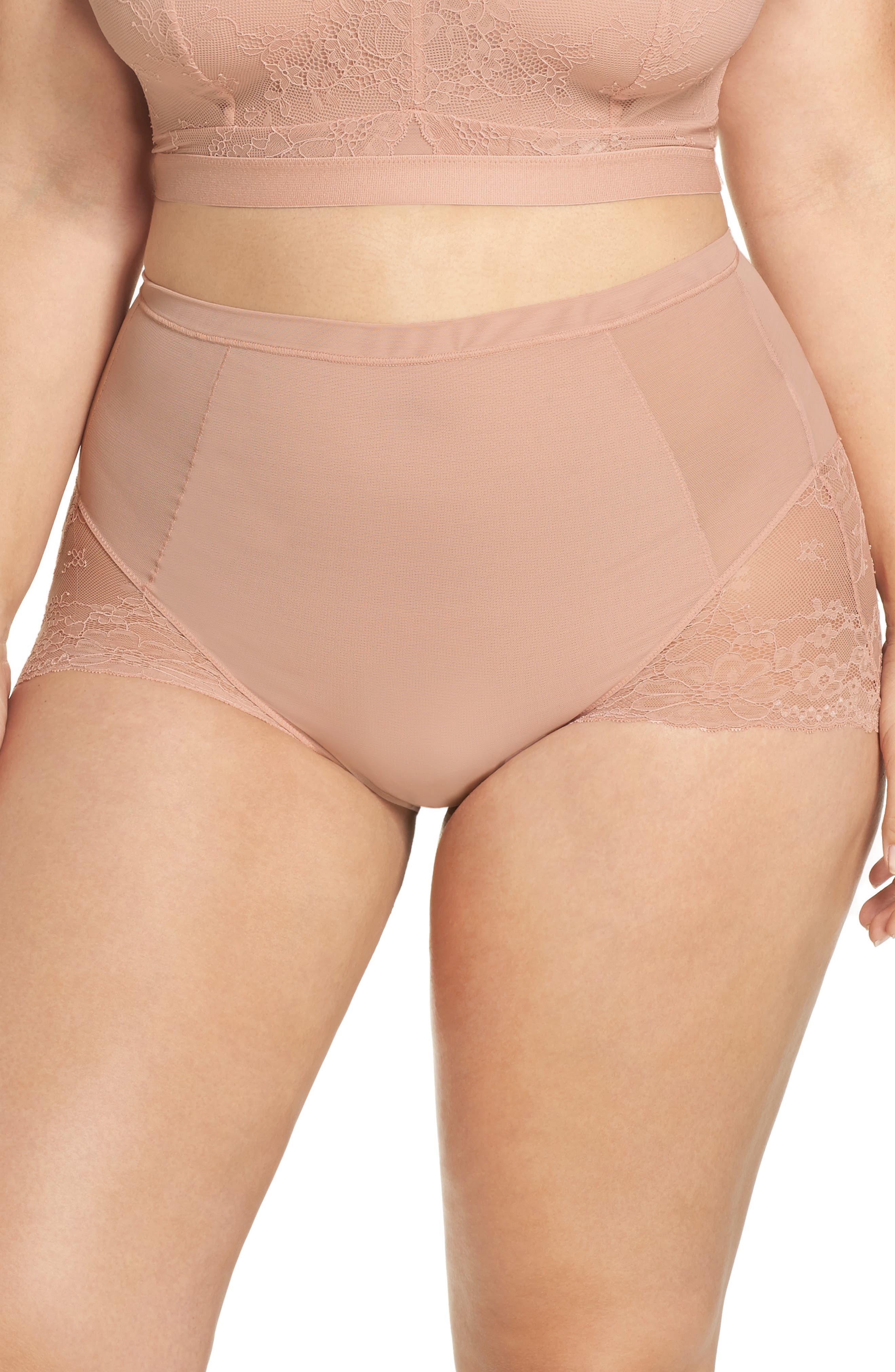 SPANX<SUP>®</SUP> On Lace Briefs, Main, color, VINTAGE ROSE