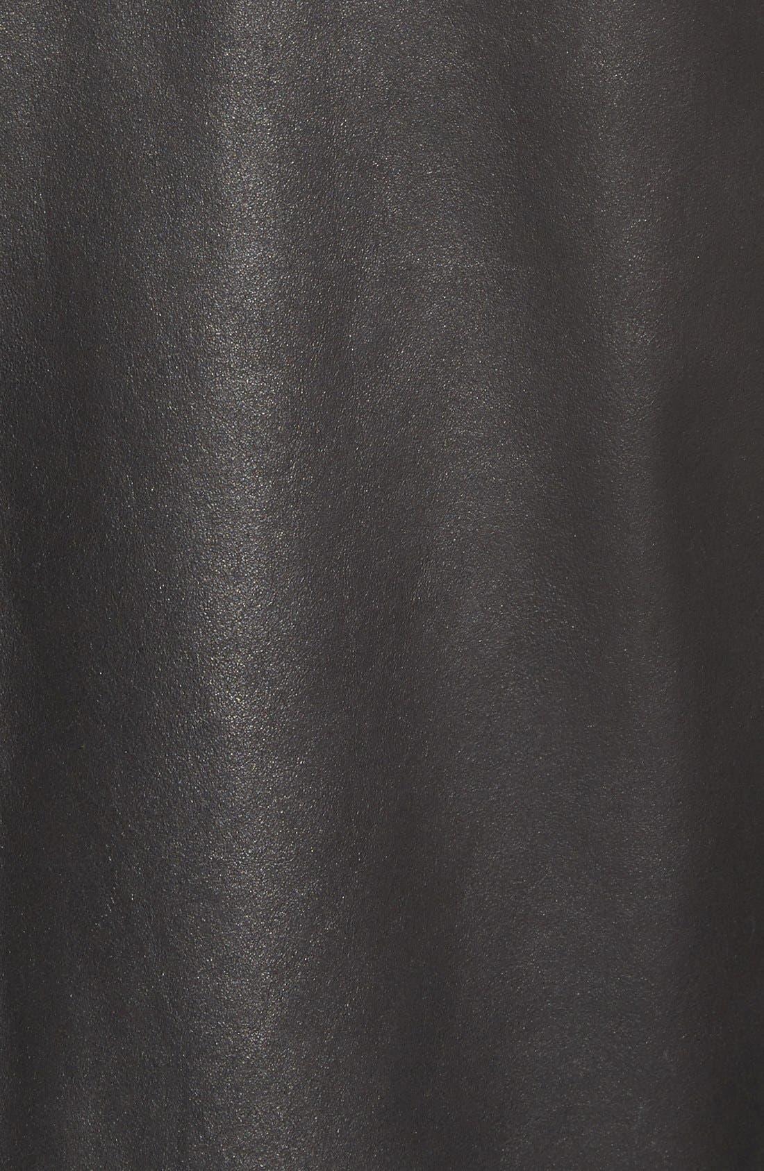 Vintage Lambskin Leather Reversible Jacket,                             Alternate thumbnail 5, color,                             001