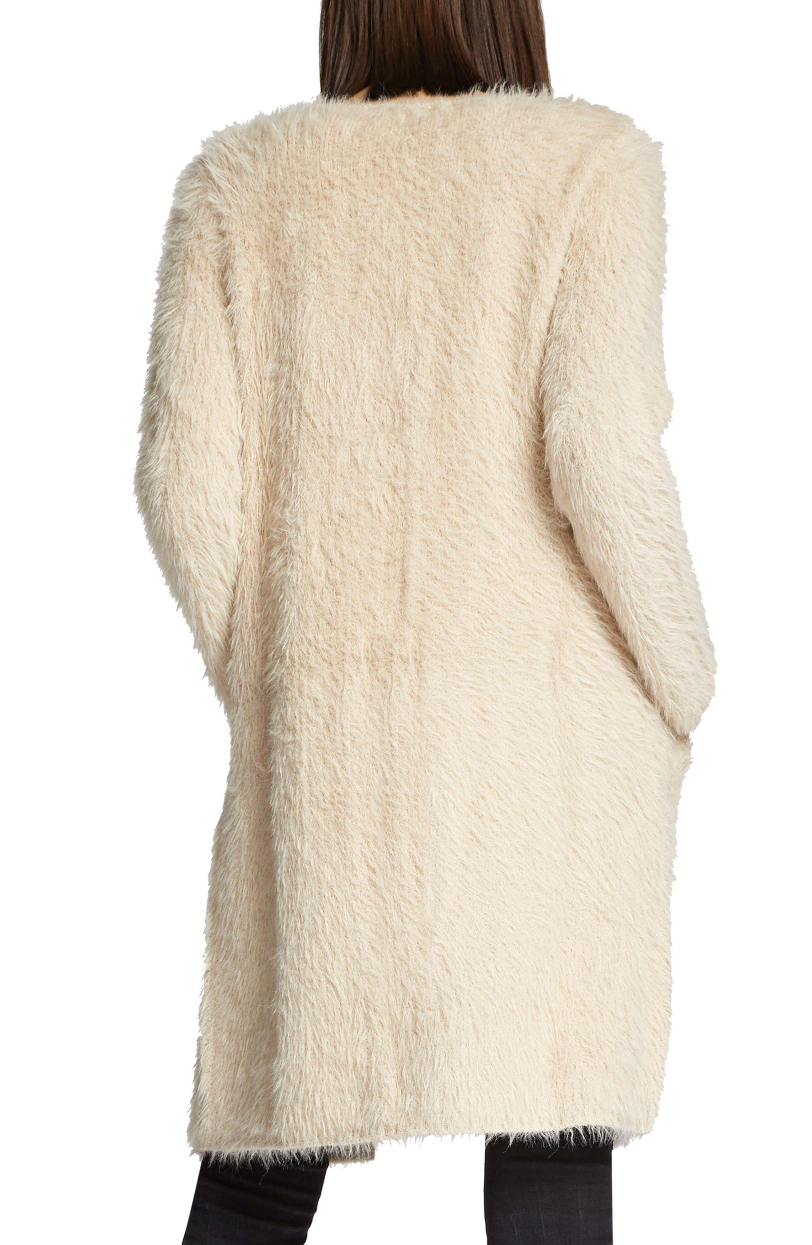 Faux Fur City Coat,                             Alternate thumbnail 3, color,                             250