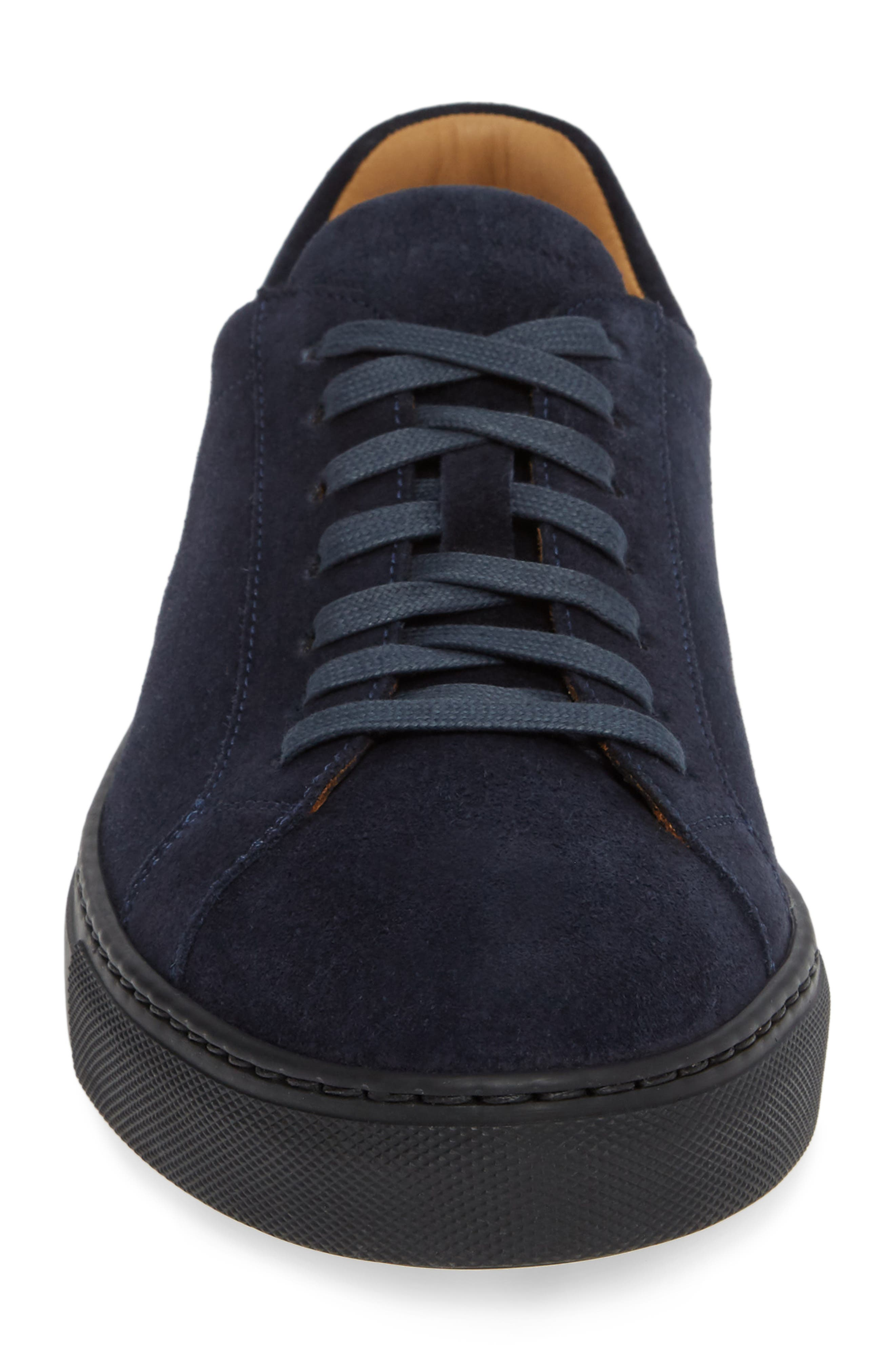 Fede Sneaker,                             Alternate thumbnail 4, color,                             NAVY SUEDE/ LEATHER